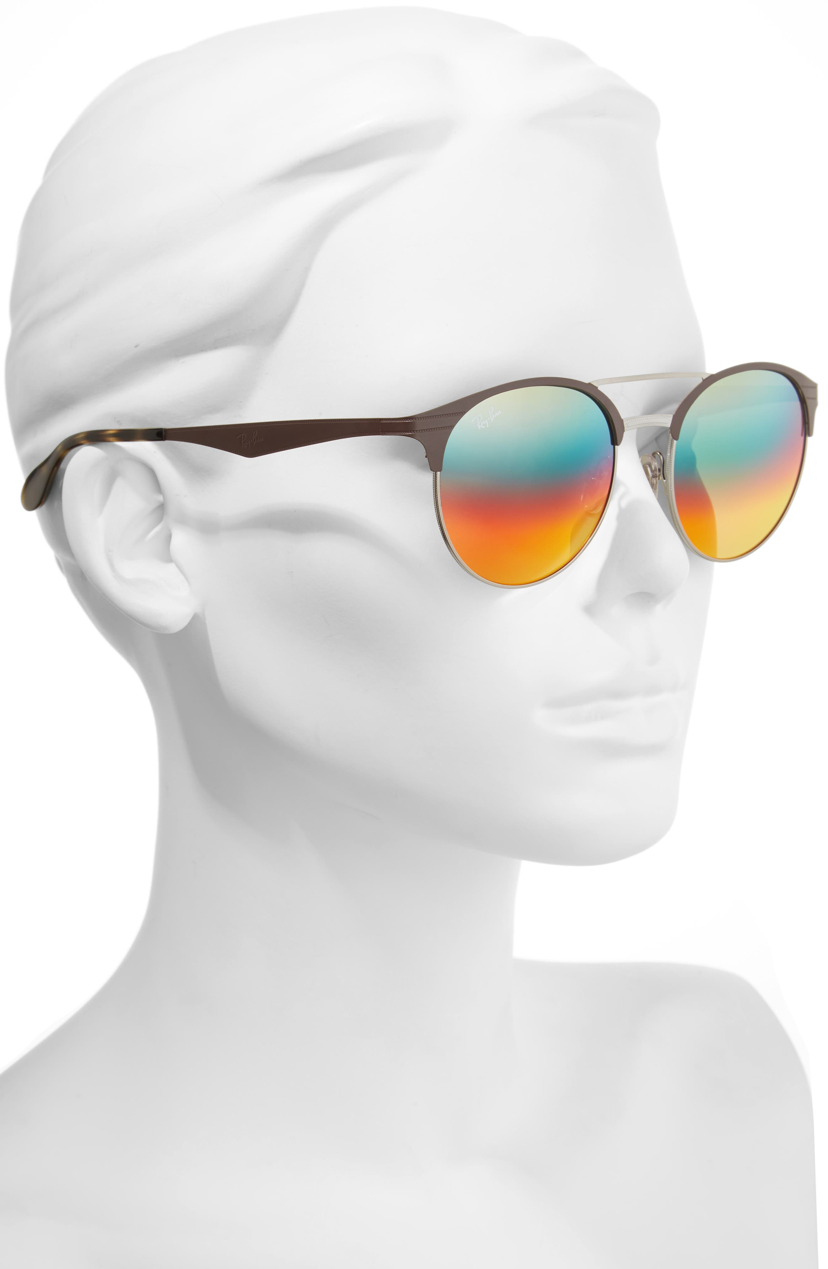 Alternate Image 2  - Ray-Ban Highstreet 54mm Round Sunglasses