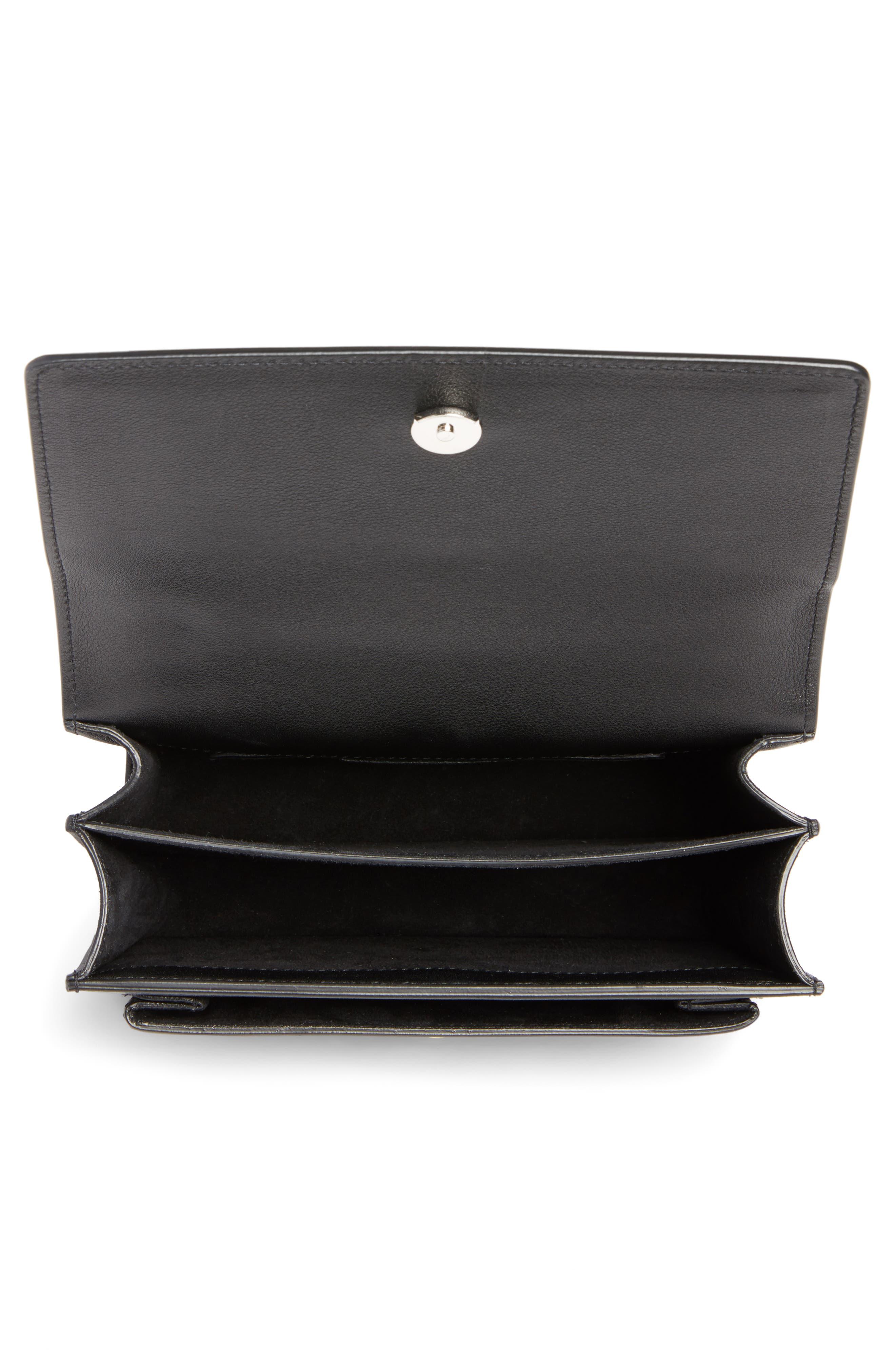 Alternate Image 3  - Saint Laurent Small Sunset Studded Leather Shoulder Bag