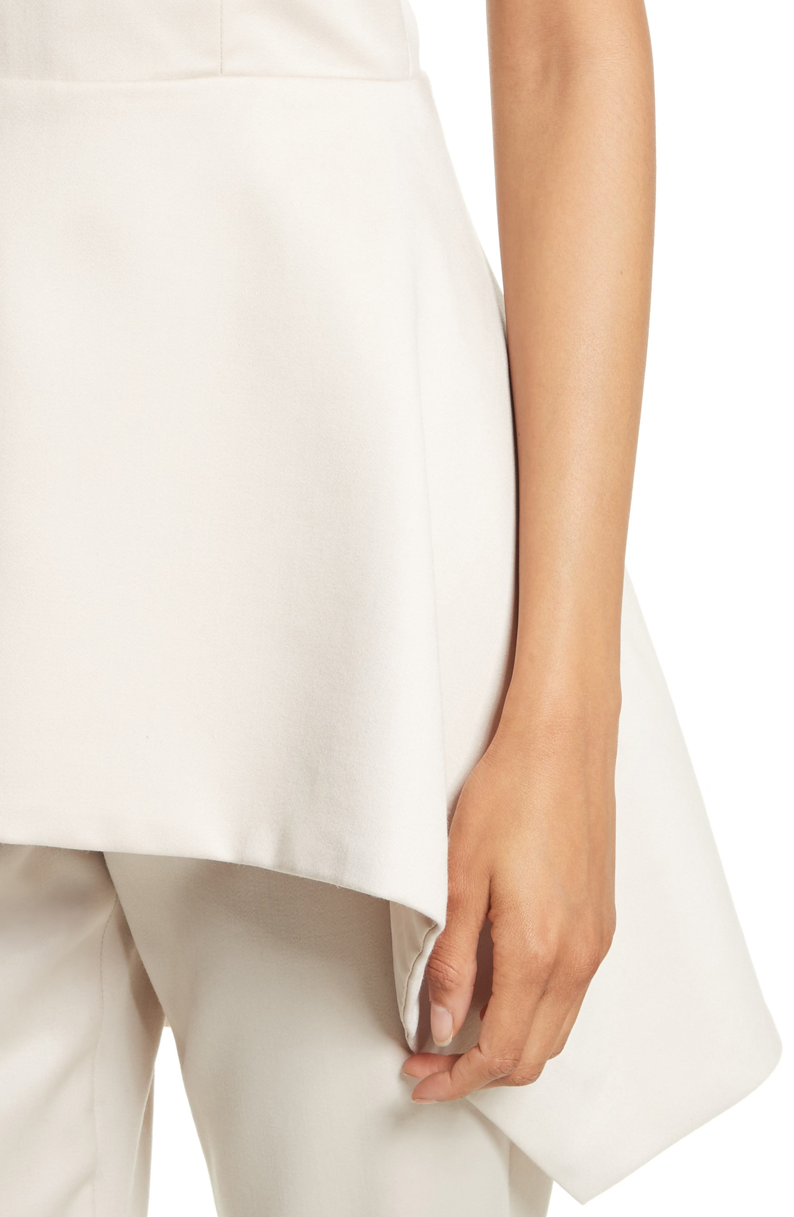 Duncan Strapless High/Low Peplum Top,                             Alternate thumbnail 5, color,                             Pale Nude