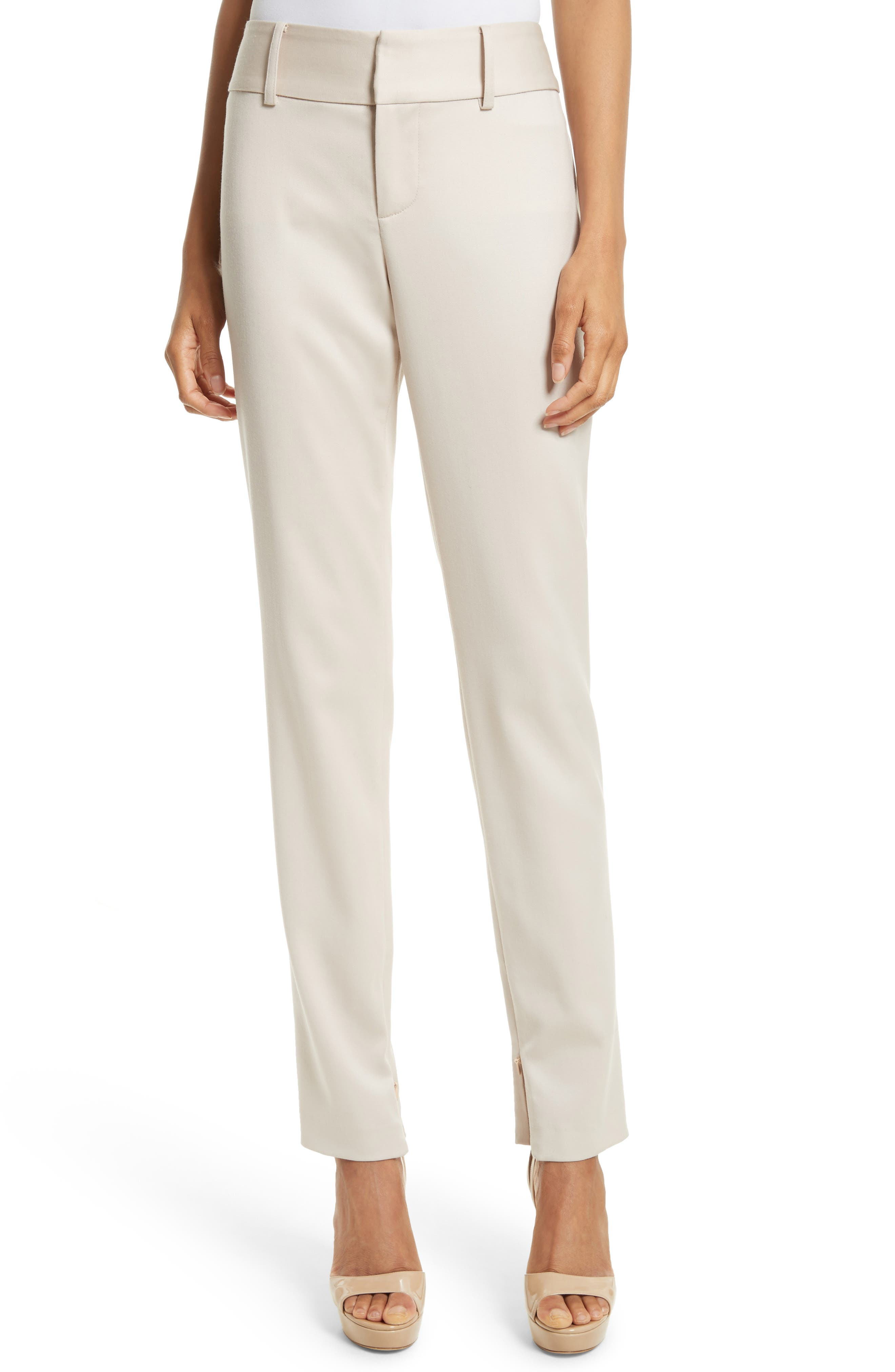 Alice + Olivia Cadence Ankle Zip Wool Trousers