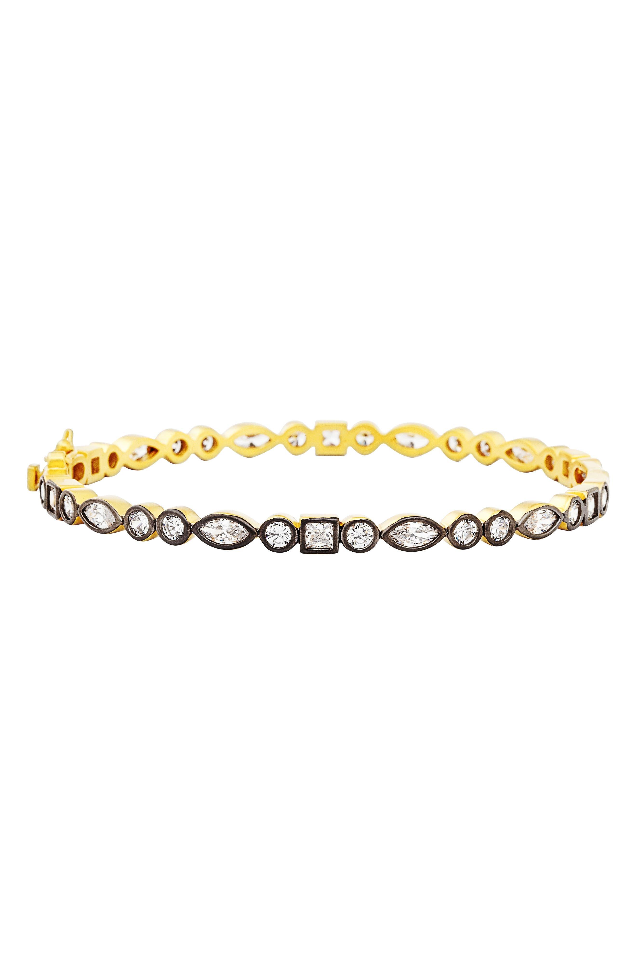 Signature Hinge Bangle,                         Main,                         color, Gold/ Black