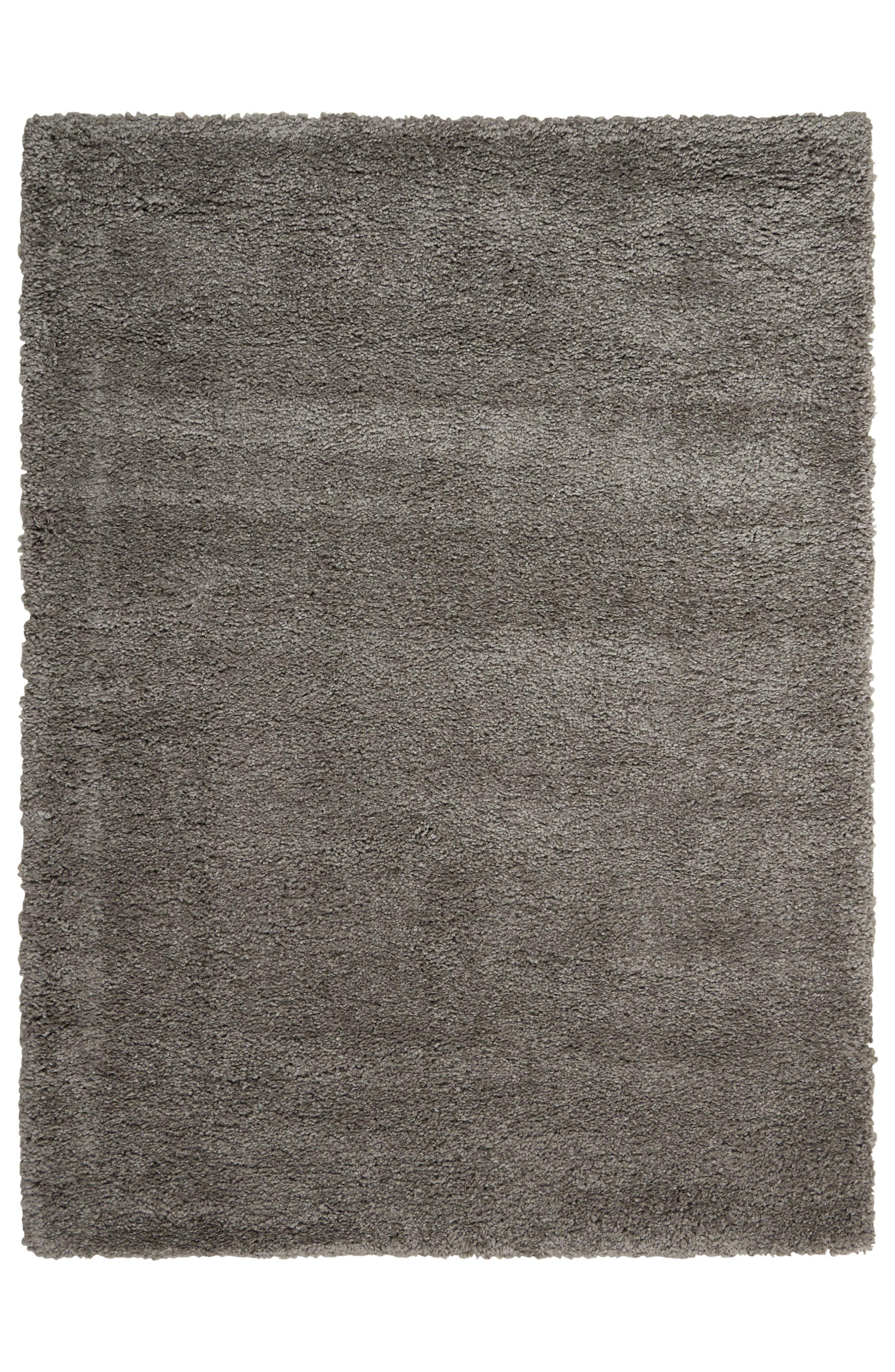 Riad Collection Shag Pile Area Rug,                         Main,                         color, Grey