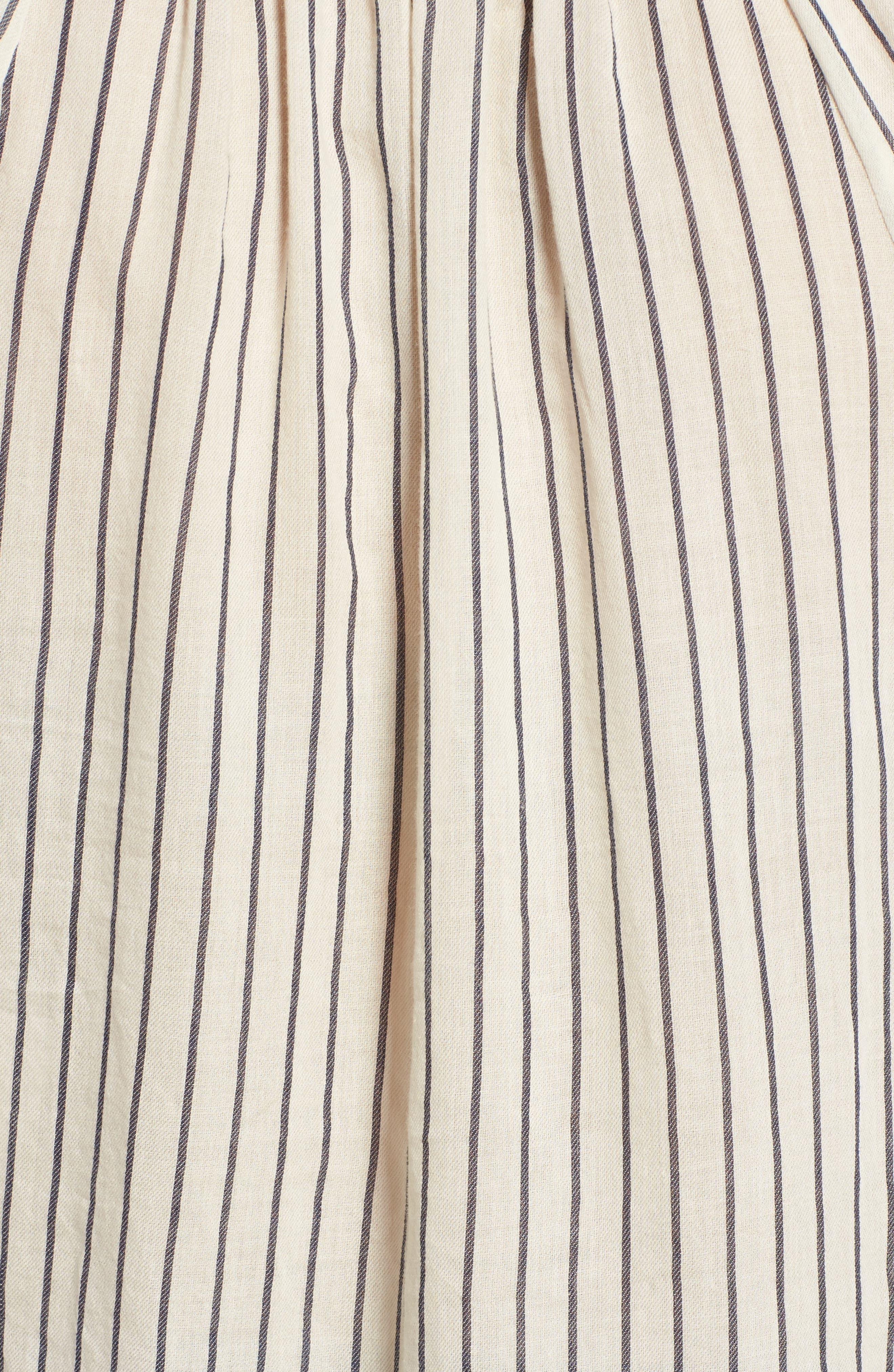 Alternate Image 5  - Lucky Brand Stripe Peasant Blouse
