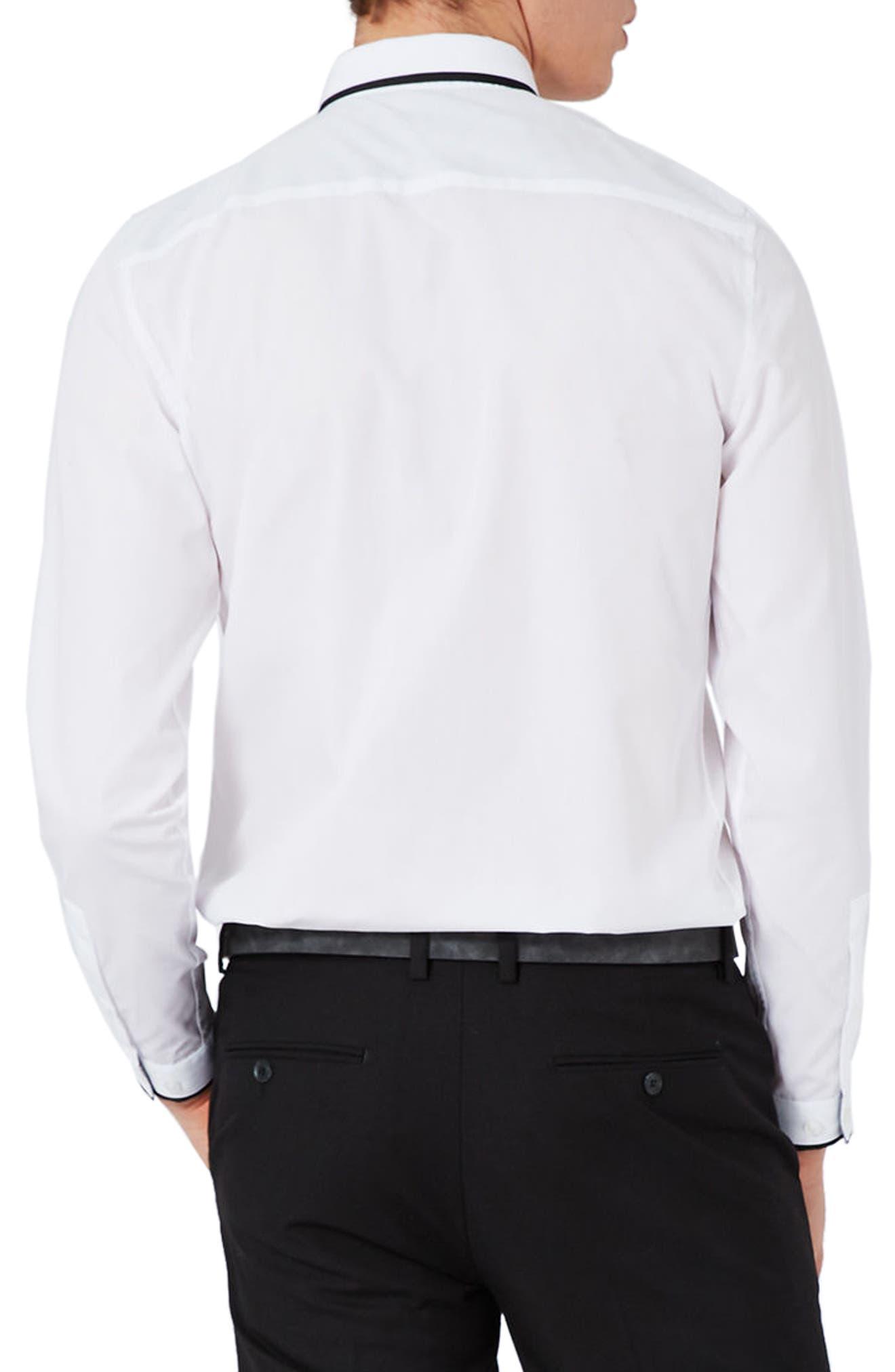 Alternate Image 4  - Topman Slim Fit Contrast Dress Shirt