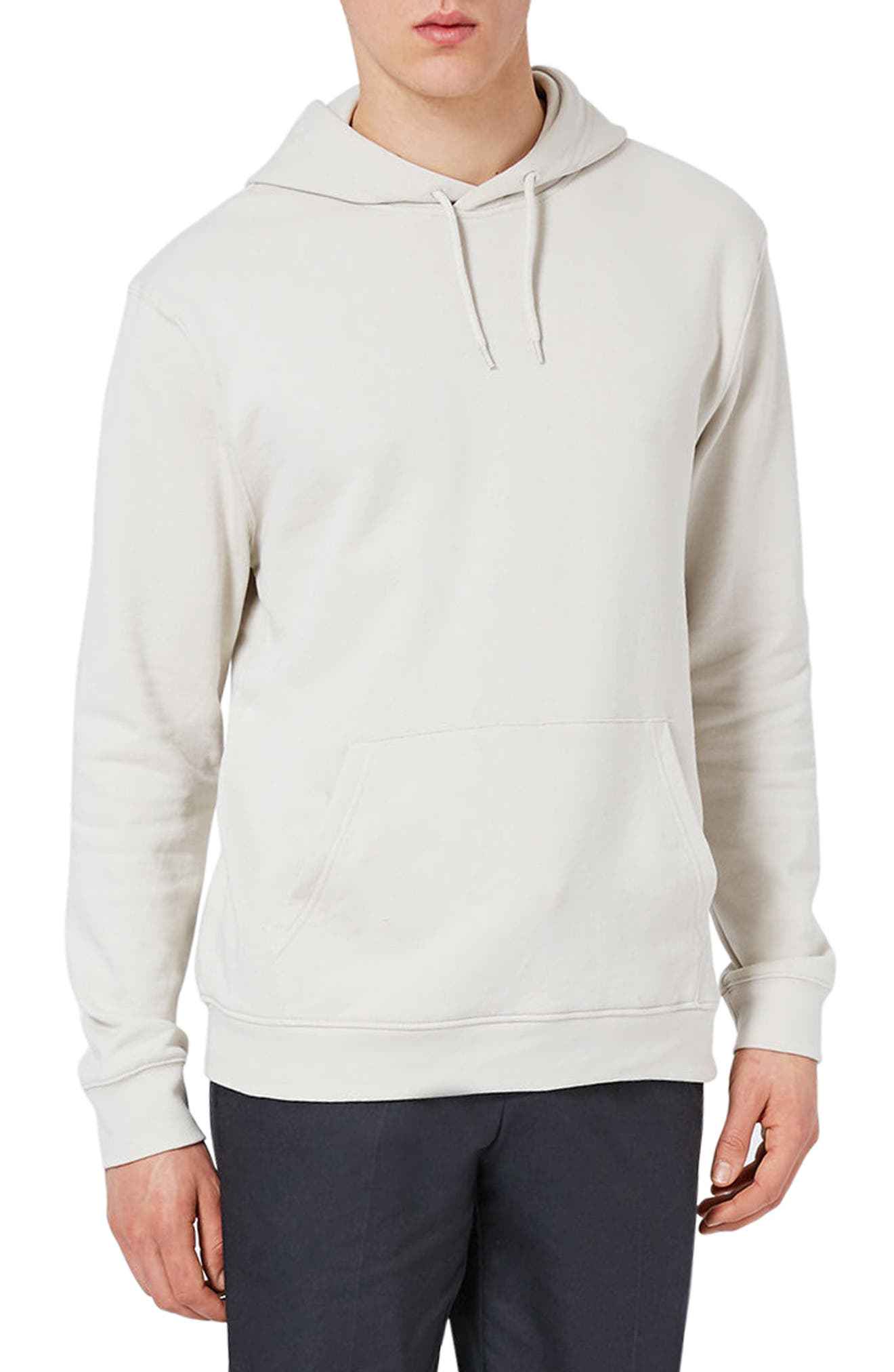Classic Fit Hoodie,                         Main,                         color, Stone
