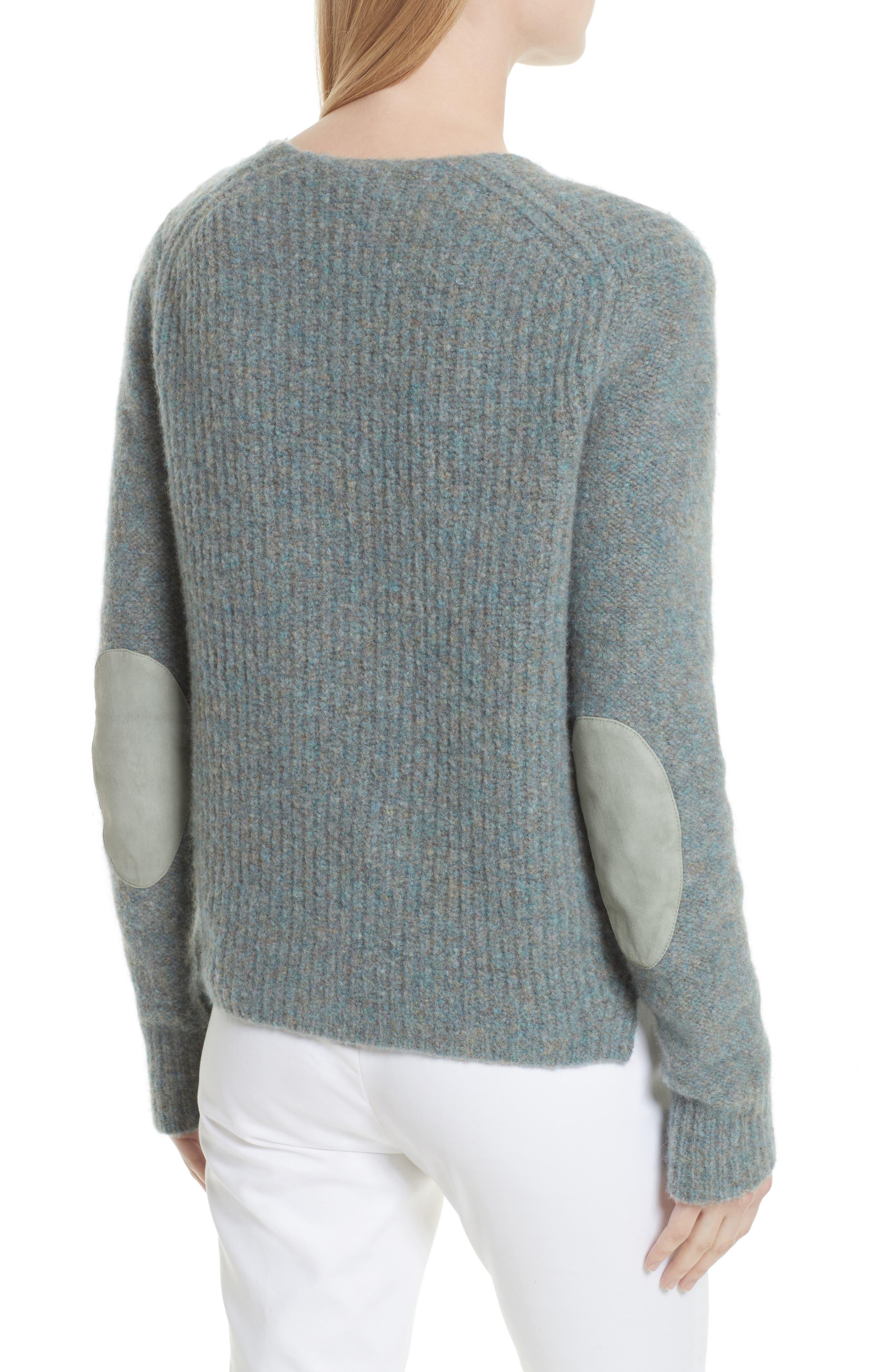 Francie Merino Wool Blend Sweater,                             Alternate thumbnail 2, color,                             Teal