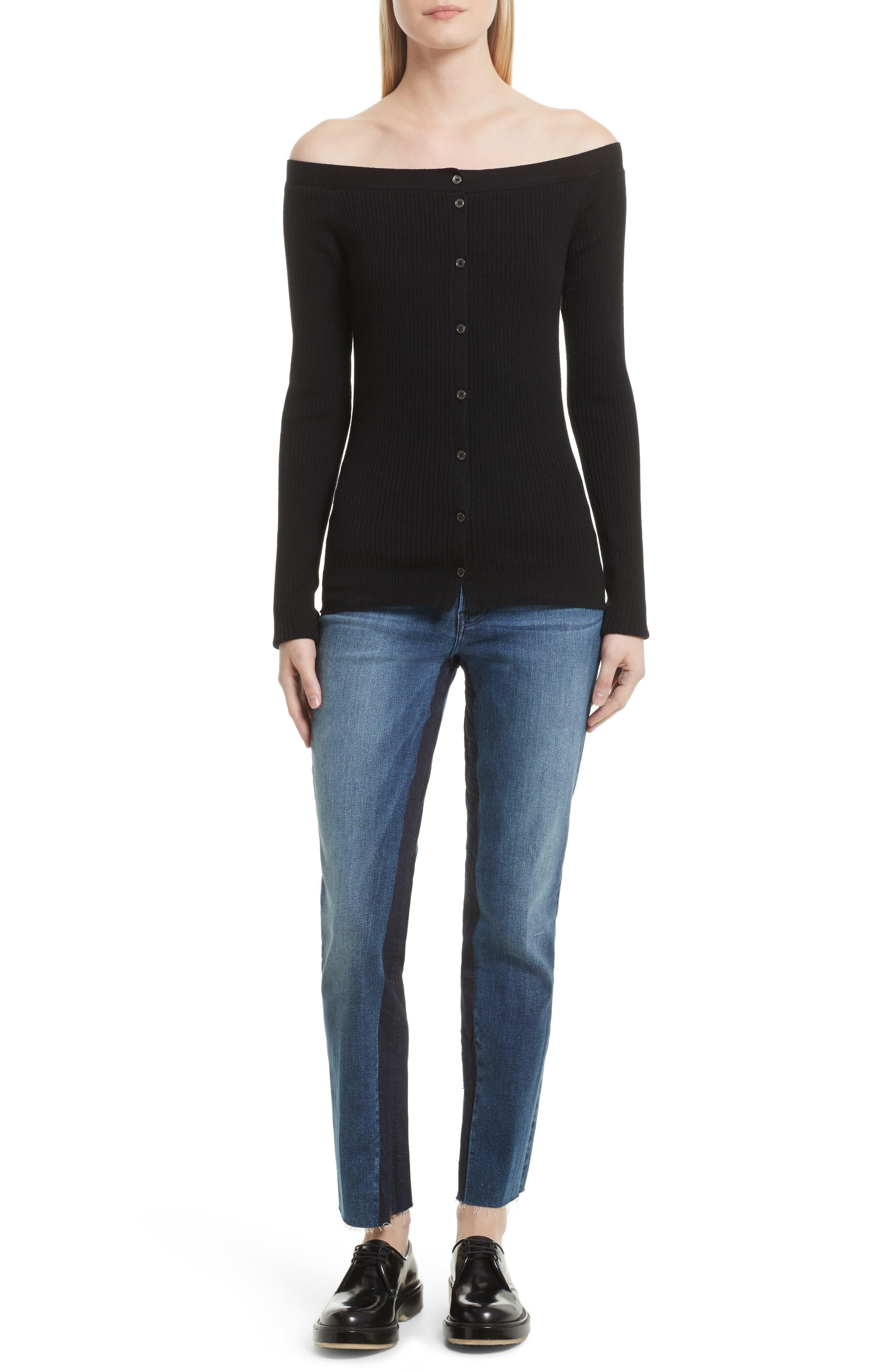 Alternate Image 8  - FRAME Le High Ankle Straight Leg Jeans (Elaine)