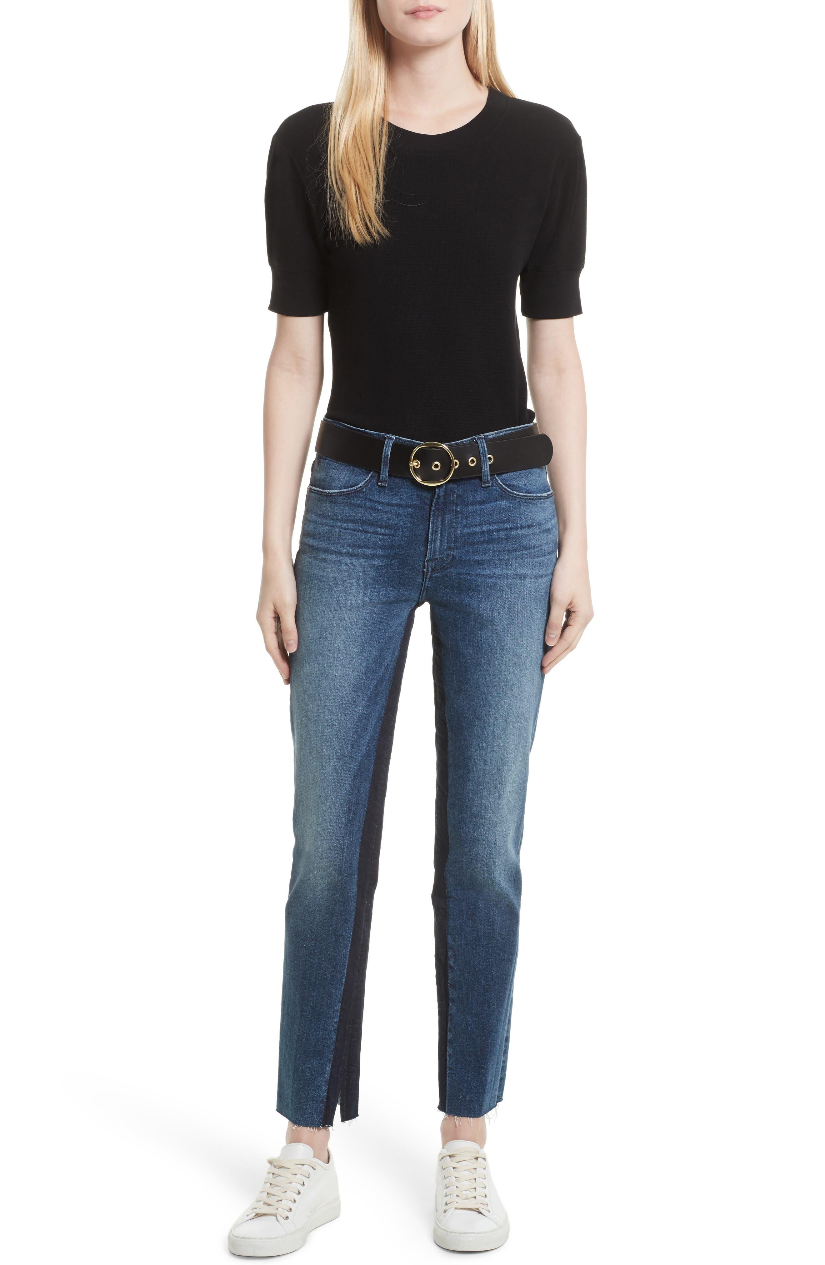 Alternate Image 2  - FRAME Le High Ankle Straight Leg Jeans (Elaine)