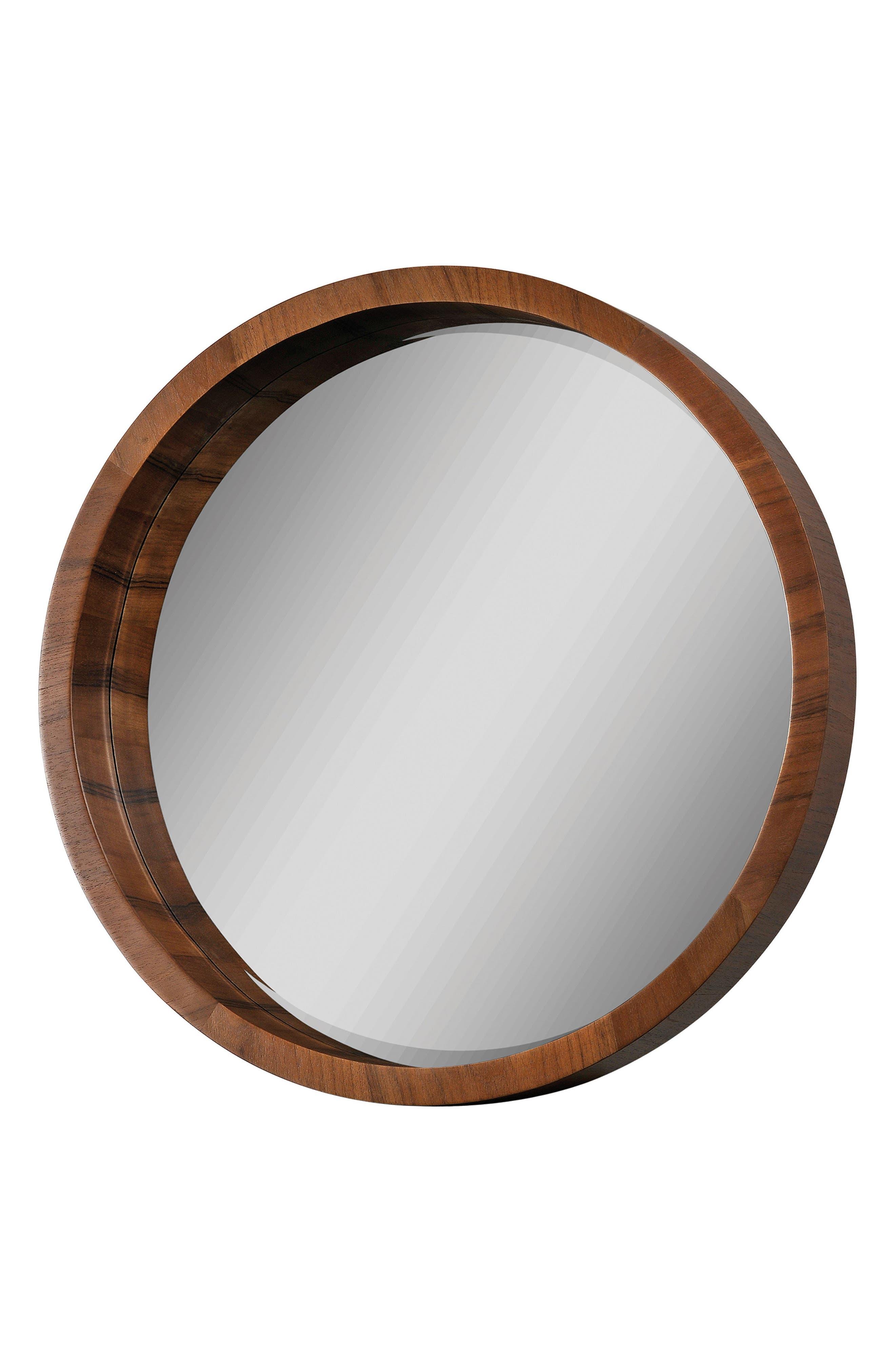 Brynjar Mirror,                             Main thumbnail 1, color,                             Walnut Veneer