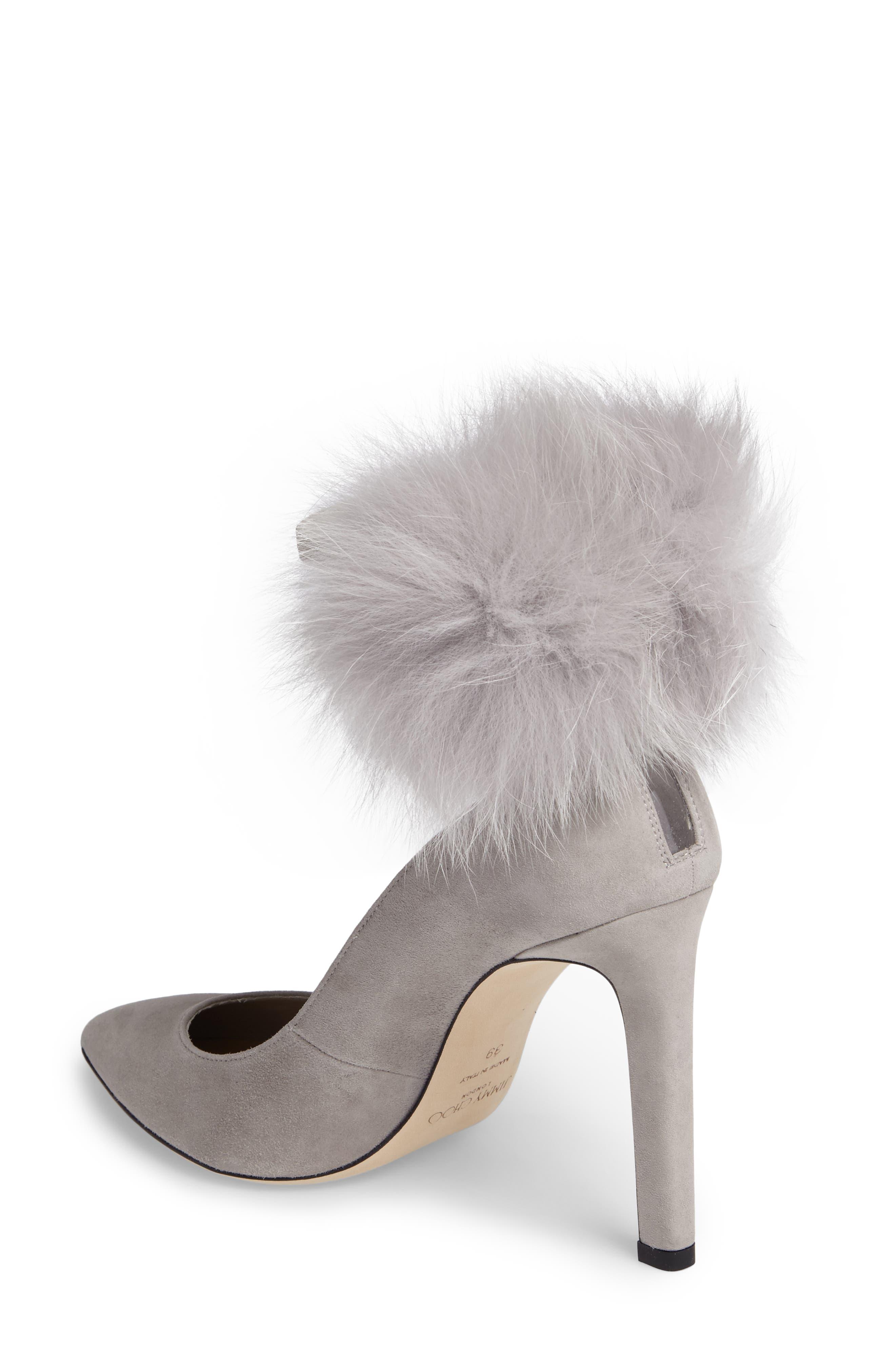 Alternate Image 2  - Jimmy Choo South Genuine Fox Fur Pompom Pump (Women)