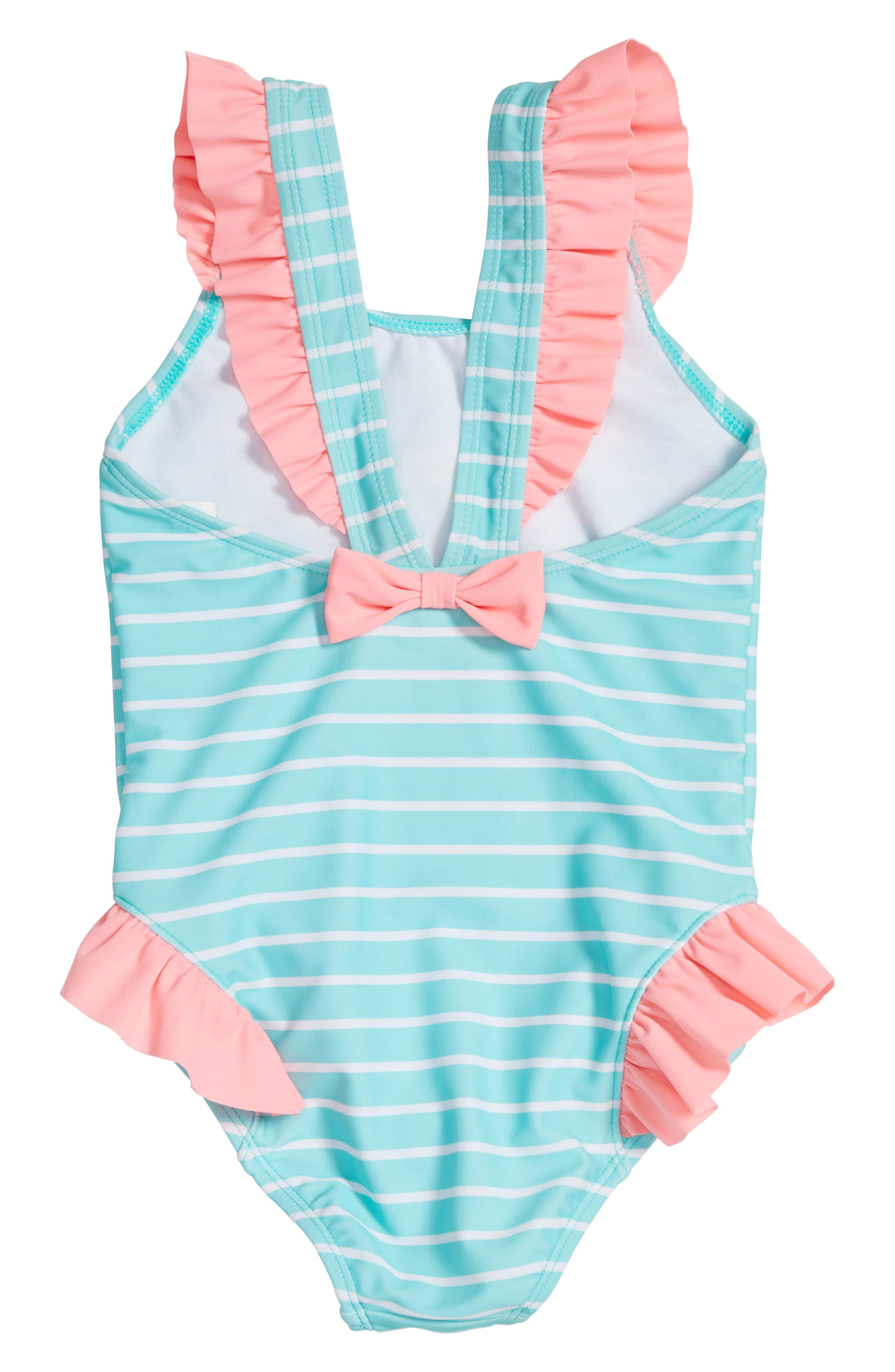 All Is Love One-Piece Swimsuit,                             Alternate thumbnail 2, color,                             Seafoam/ Pink