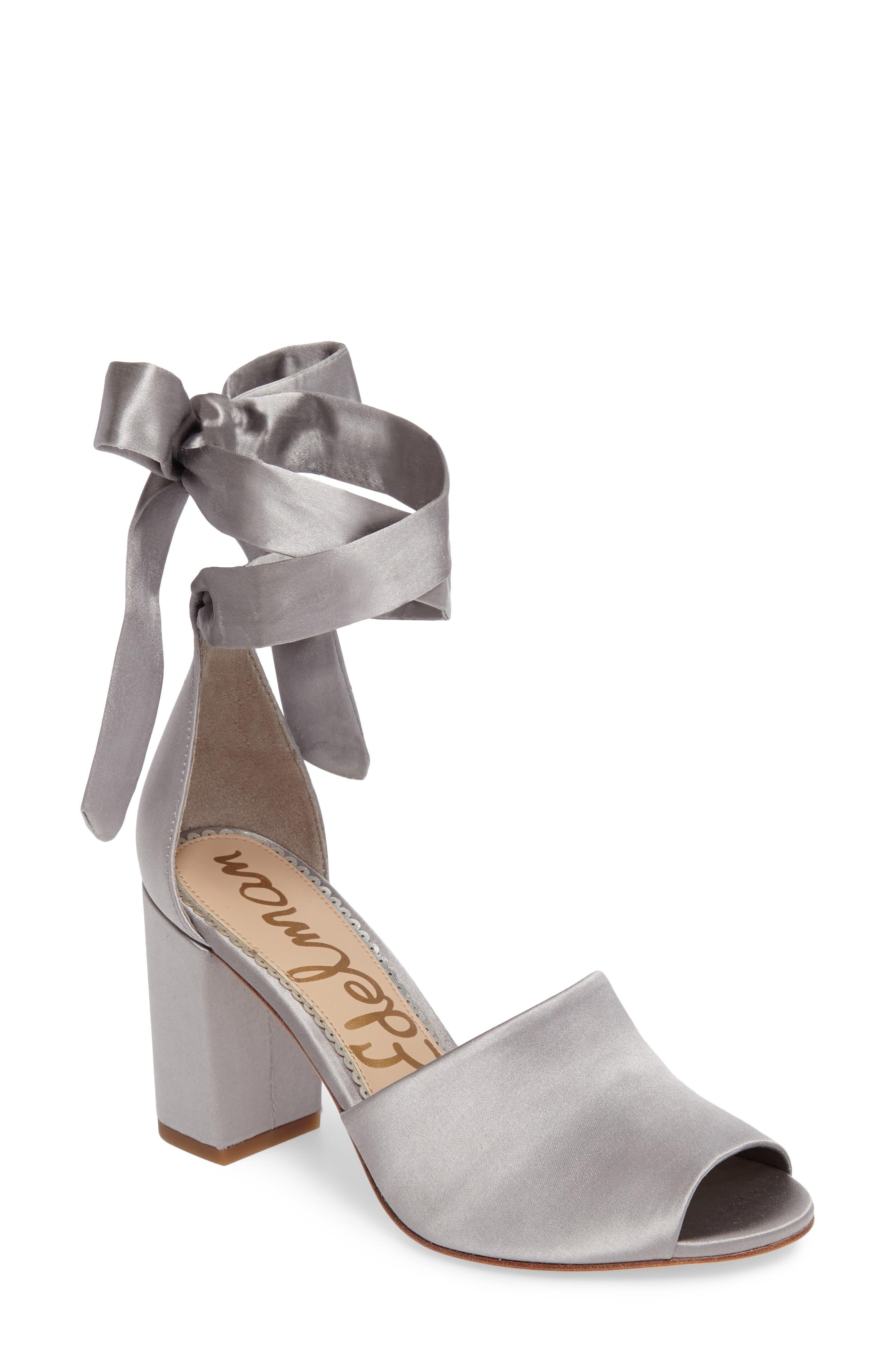 Odele Sandal,                         Main,                         color, Light Grey Satin