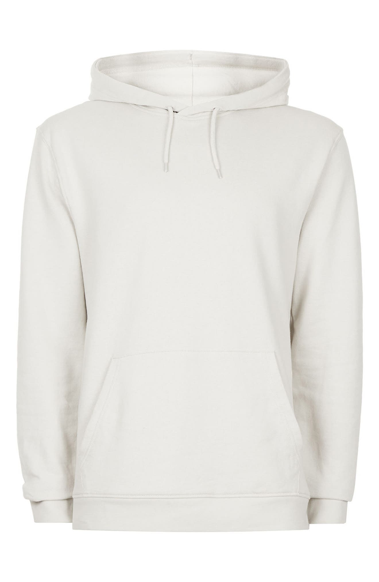 Classic Fit Hoodie,                             Alternate thumbnail 4, color,                             Stone
