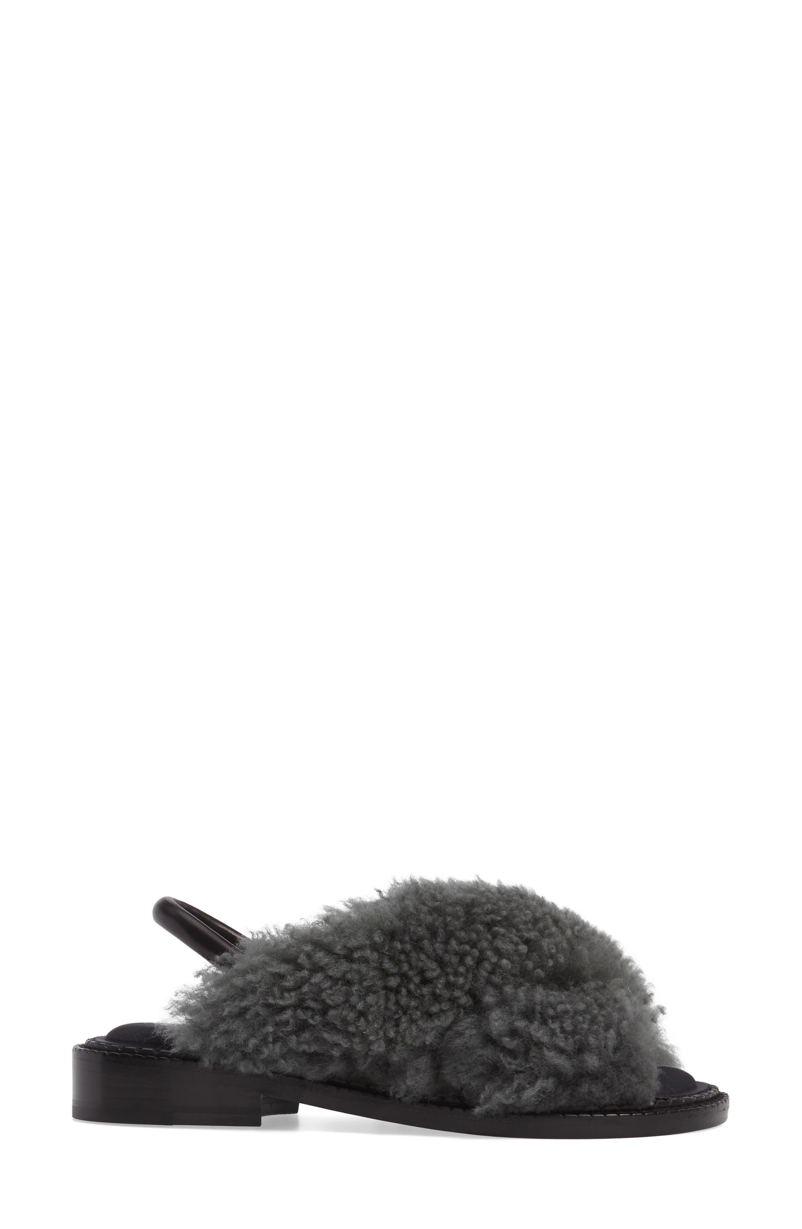 Alternate Image 3  - Robert Clergerie Bloss Genuine Fur Sandal (Women)