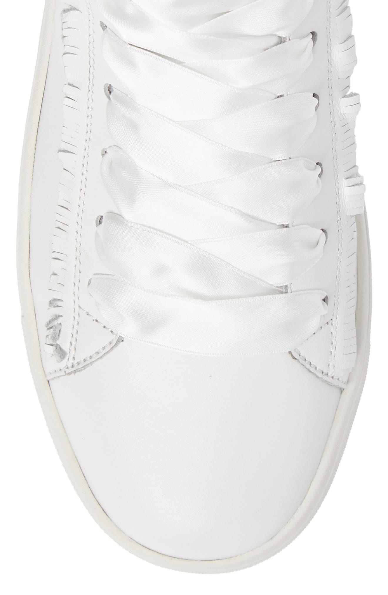Kennel & Schmenger Town Flower High Top Sneaker,                             Alternate thumbnail 5, color,                             White