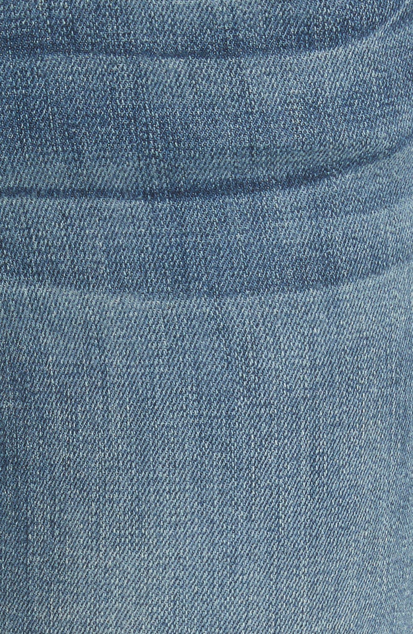Alternate Image 6  - FRAME Le Skinny de Jeanne Crop Release Hem Jeans (Roberts) (Nordstrom Exclusive)