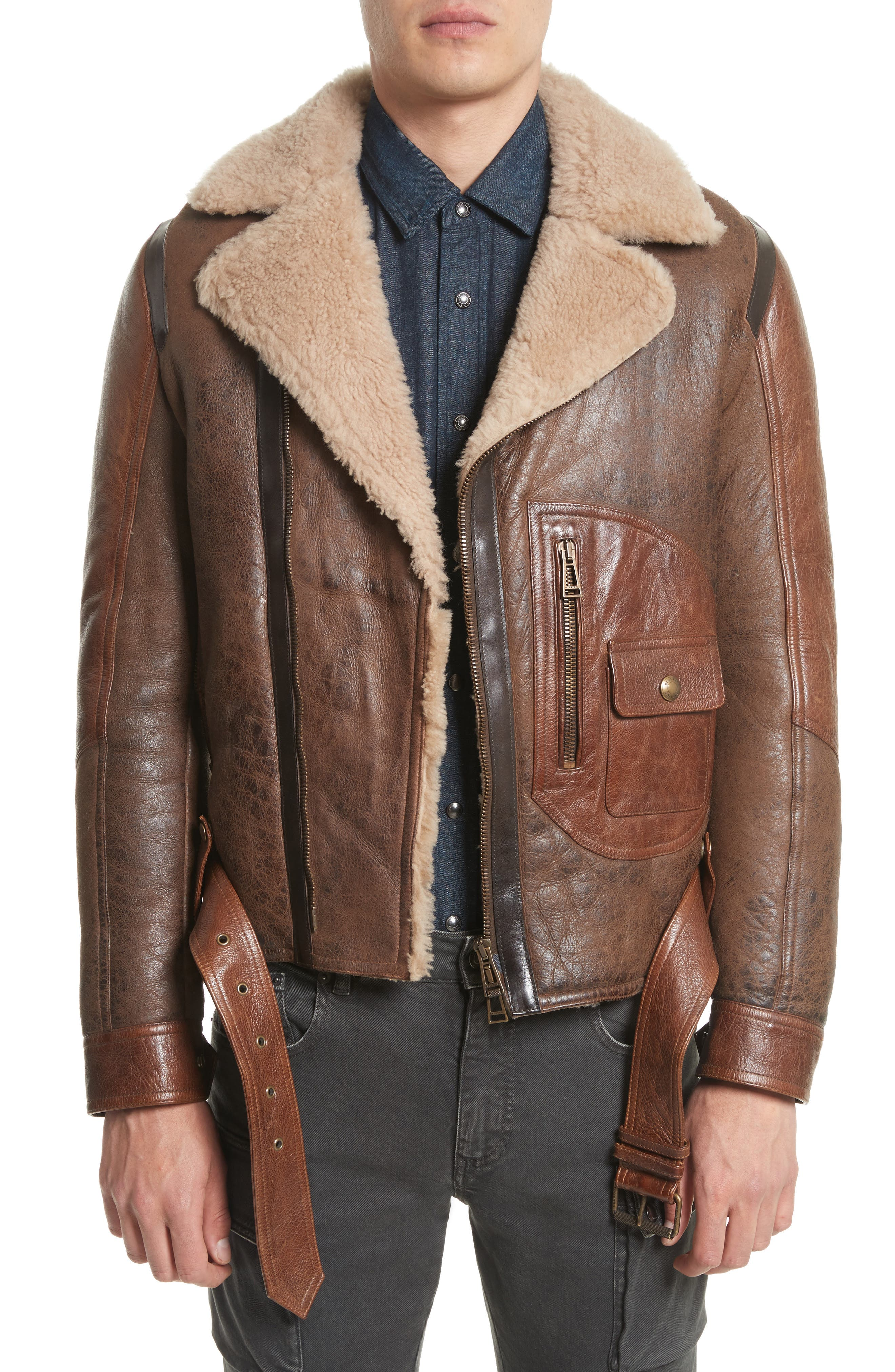 Belstaff Danescroft Shealing Leather Jacket