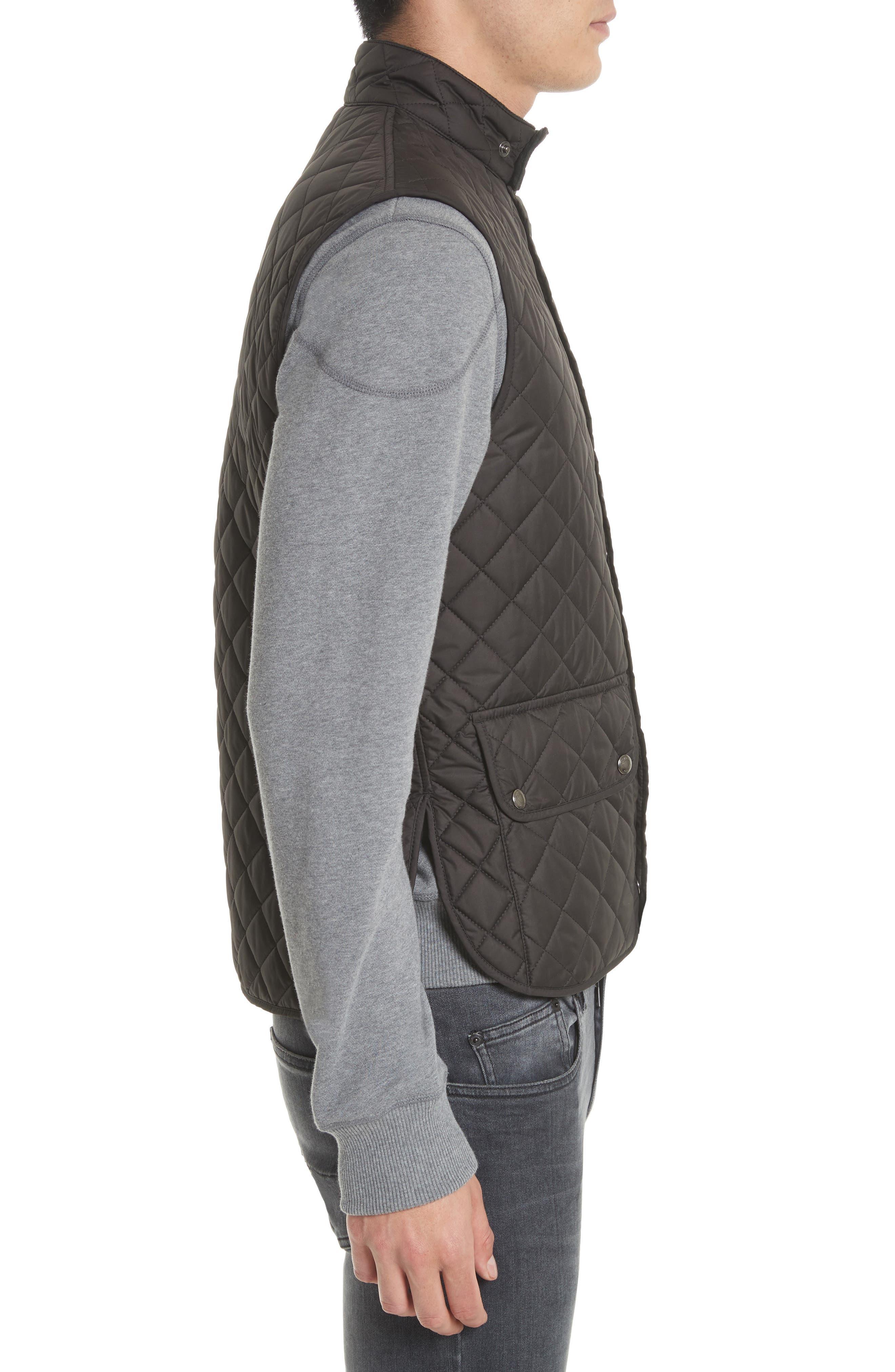 Waistcoat Tech Quilted Vest,                             Alternate thumbnail 3, color,                             Black