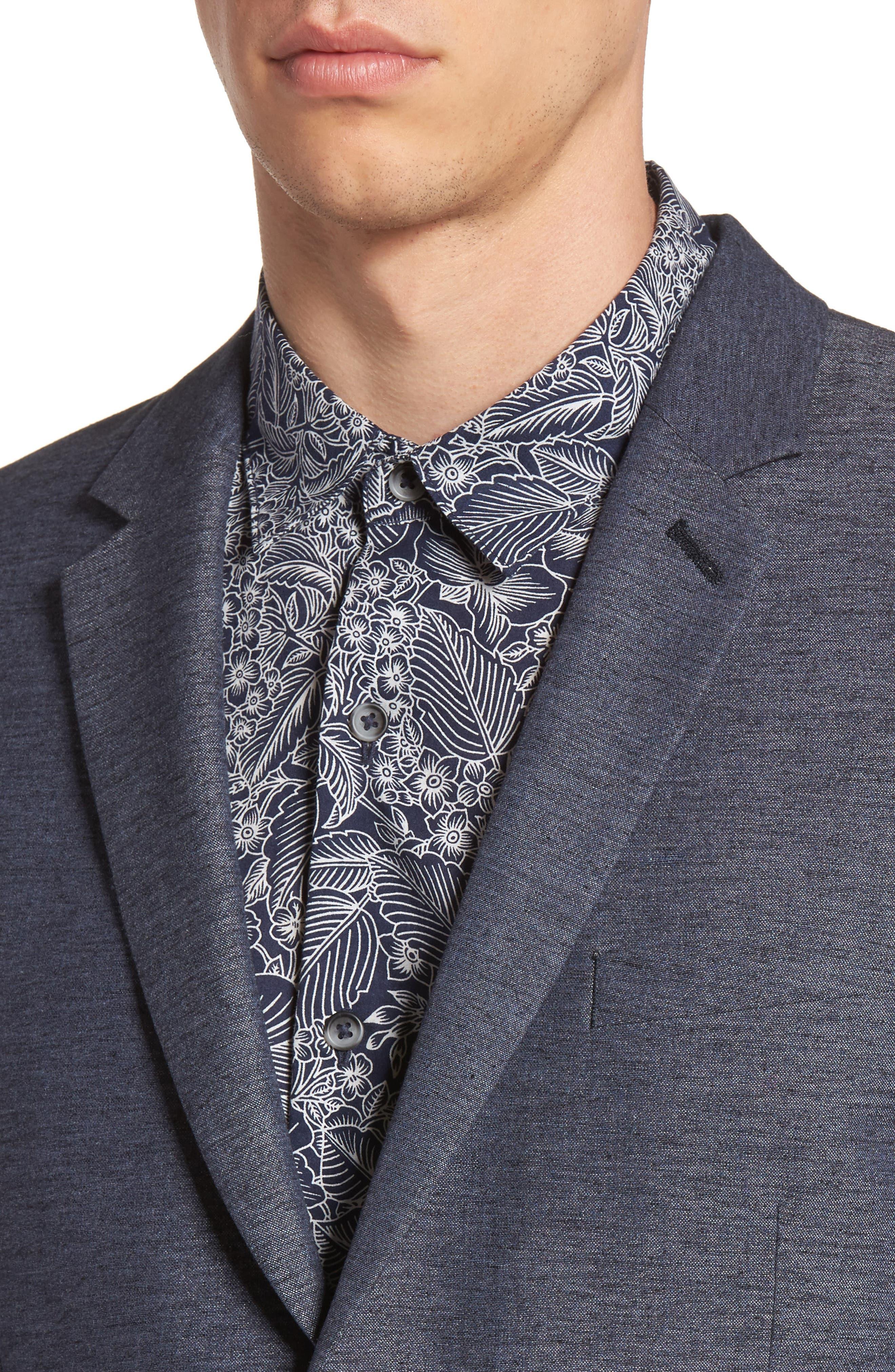 Alternate Image 4  - Topman Slim Fit Jersey Blazer