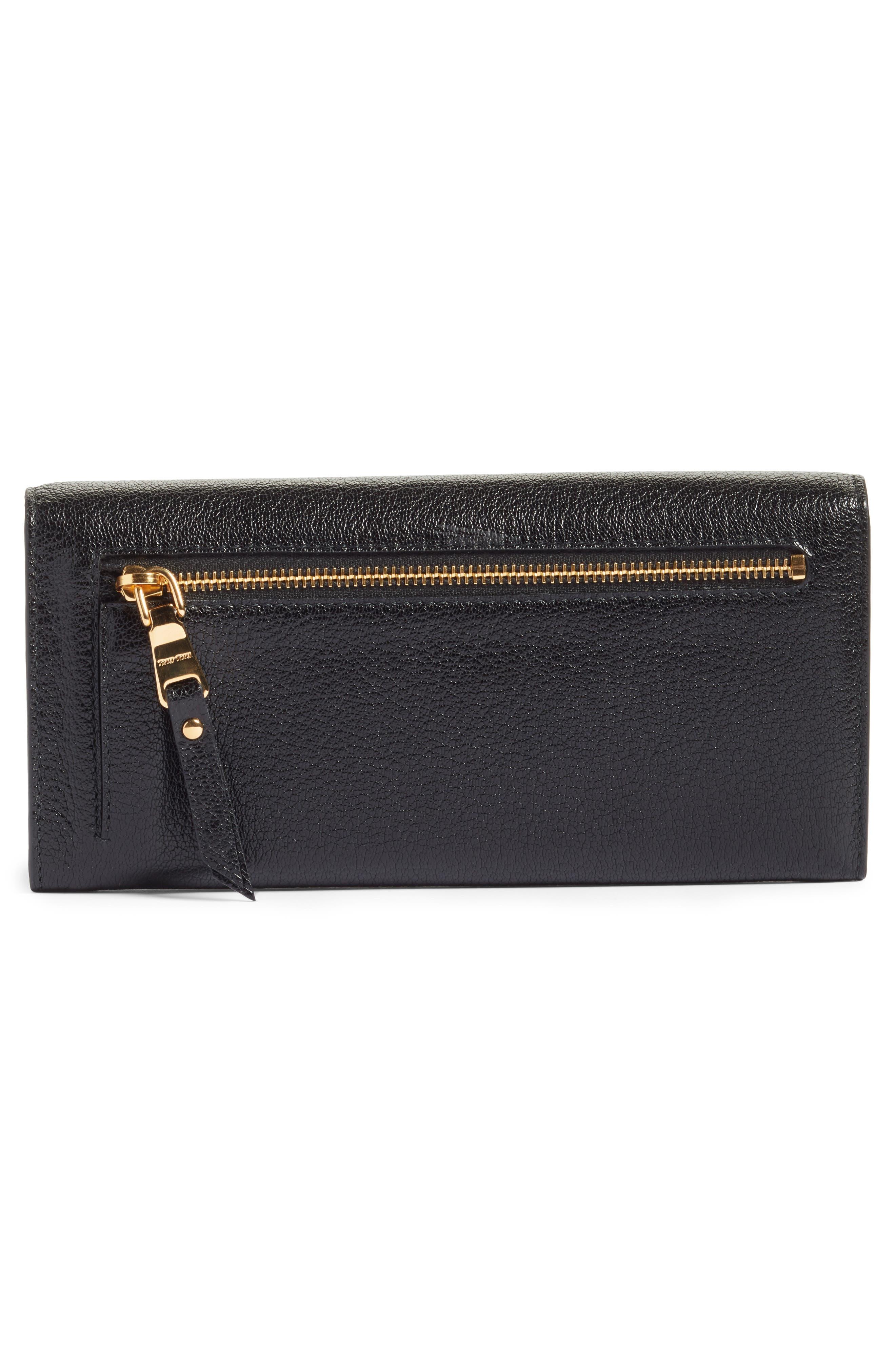 Alternate Image 4  - Miu Miu Madras Leather Continental Wallet