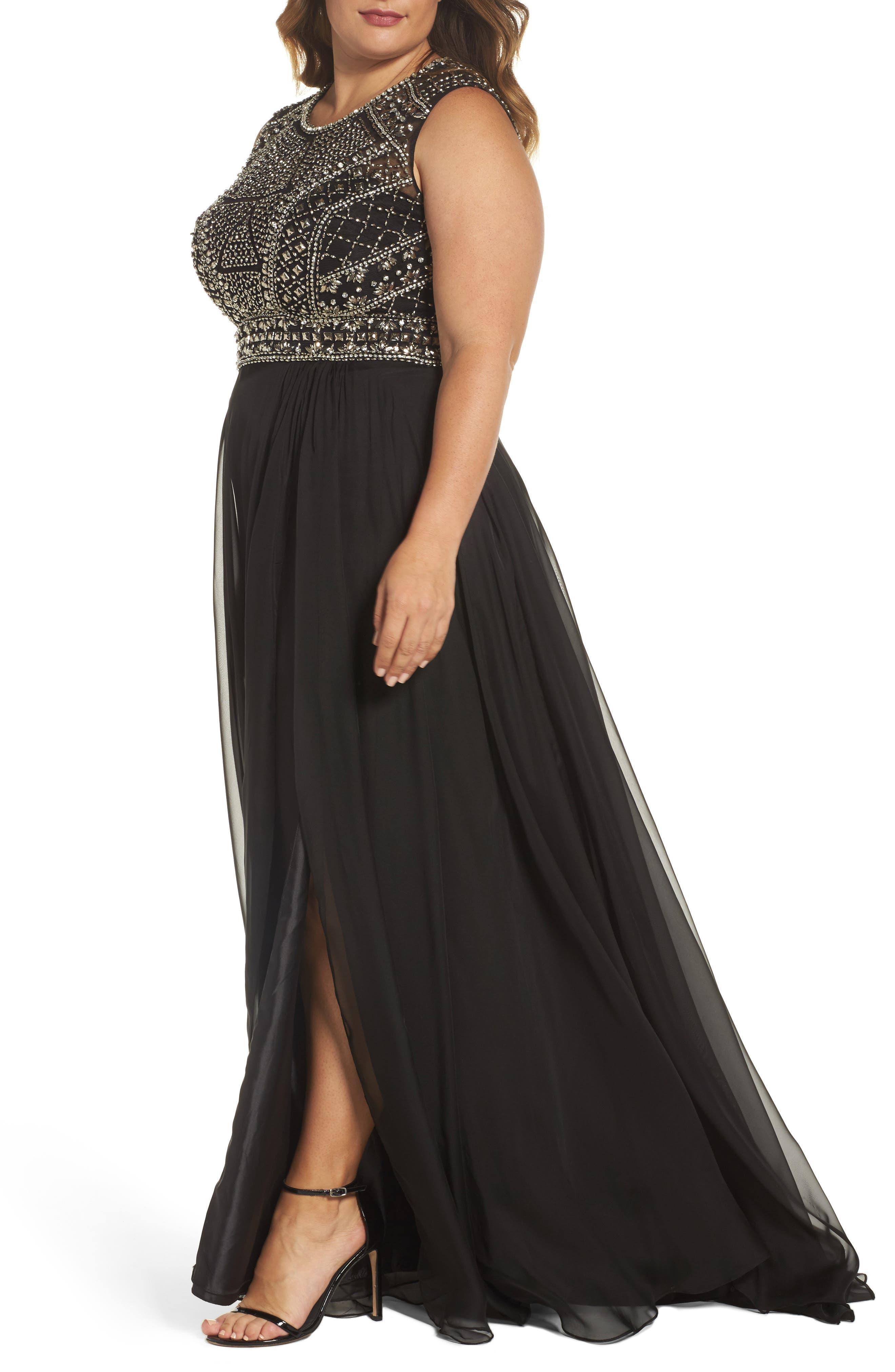Alternate Image 4  - Mac Duggal Embellished Ballgown (Plus Size)