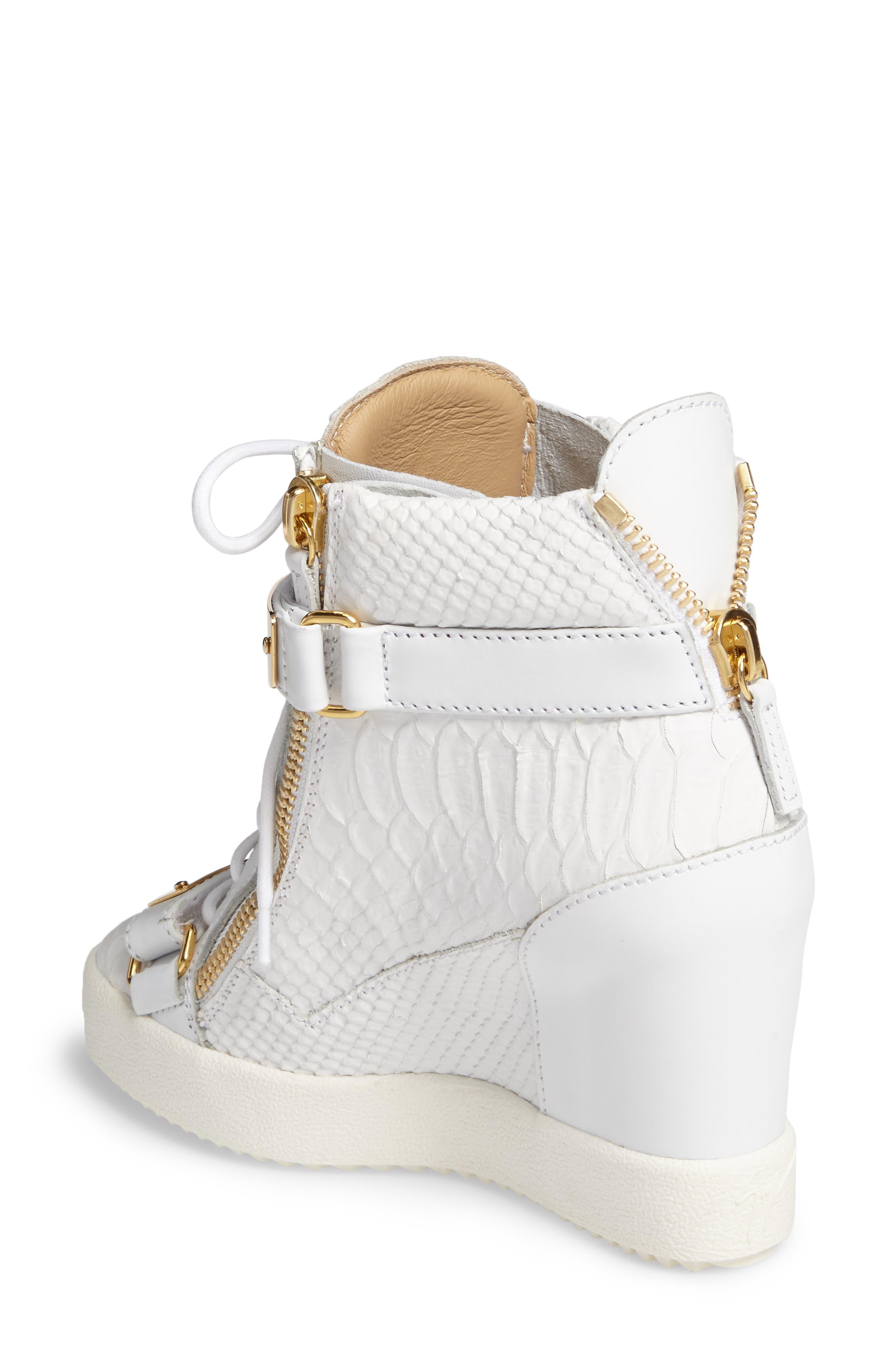 Wedge Sneaker,                             Alternate thumbnail 2, color,                             White