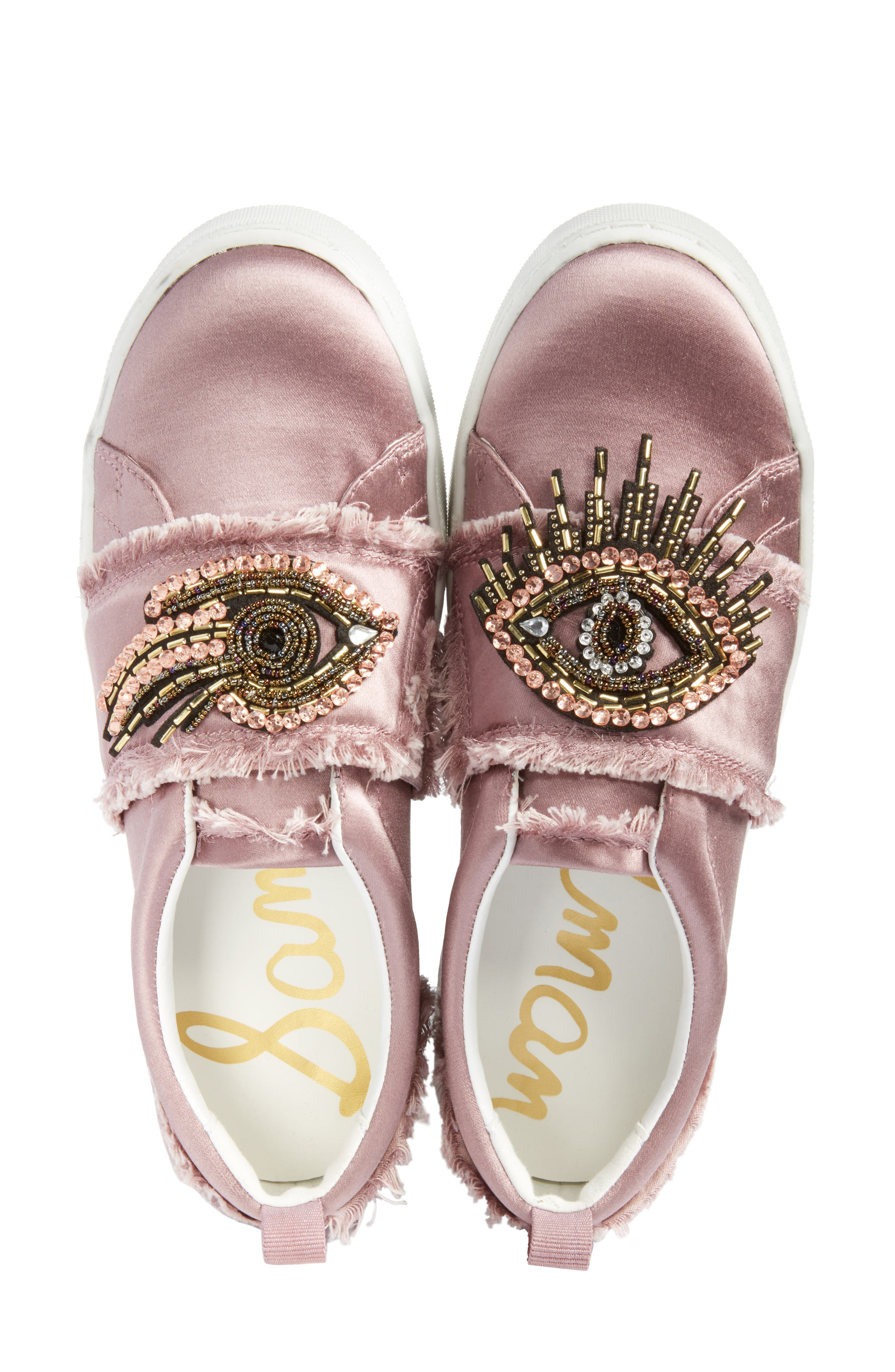 Levine Sneaker,                             Alternate thumbnail 5, color,                             Pearl Pink Satin