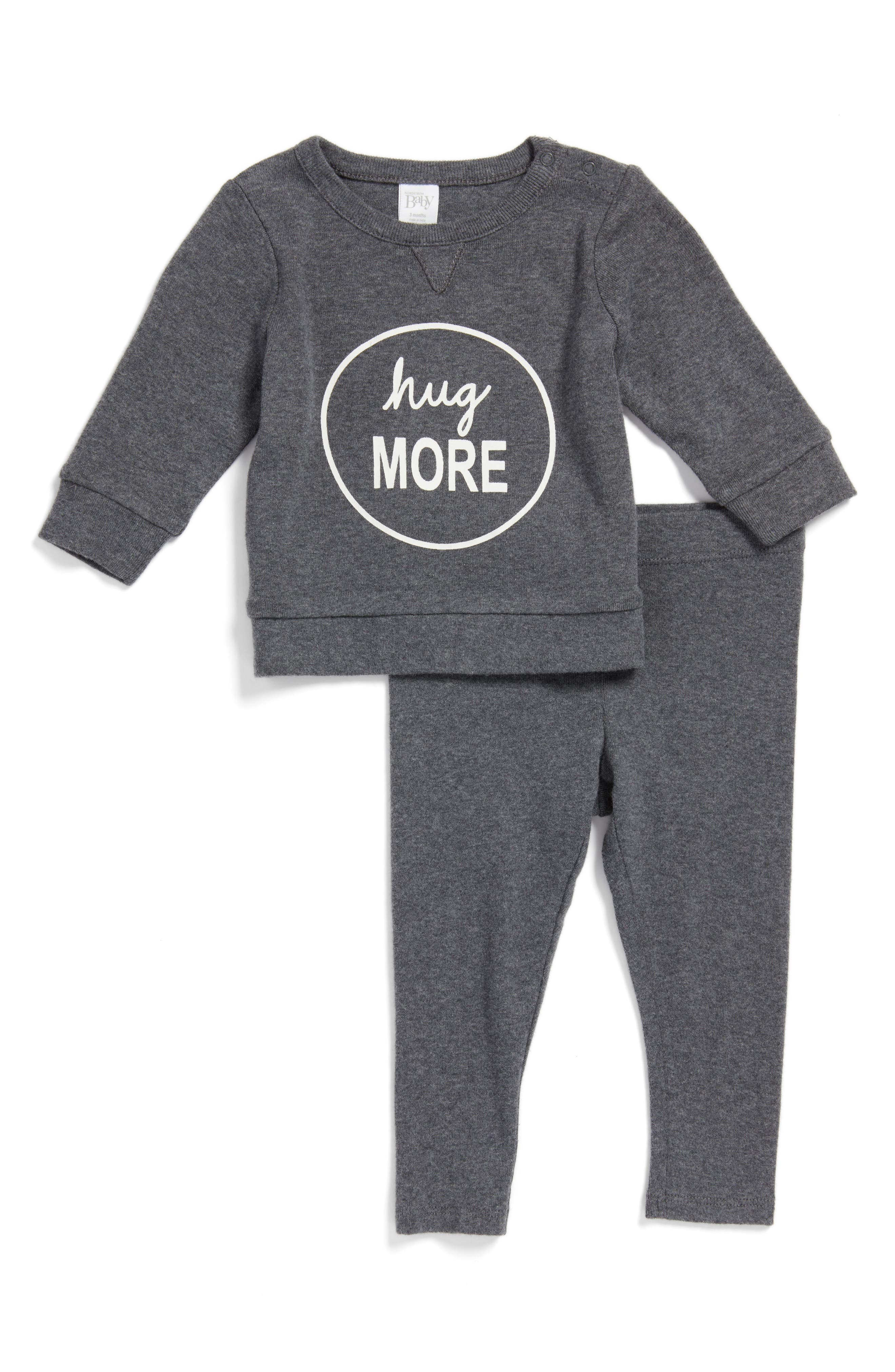 Nordstrom Baby Graphic T-Shirt & Pants Set (Baby Boys)