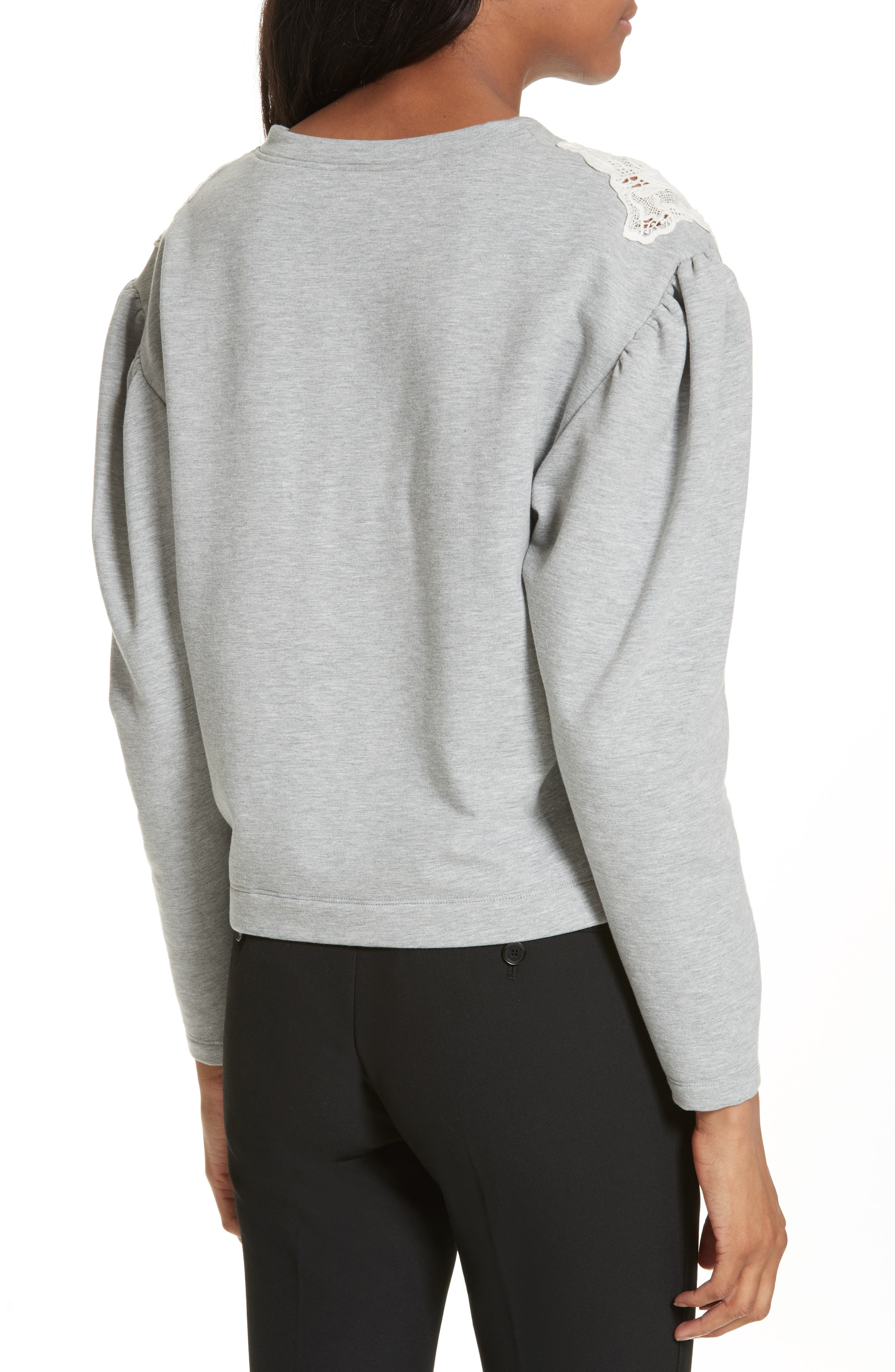 Alternate Image 2  - Rebecca Taylor Lace Inset Sweatshirt
