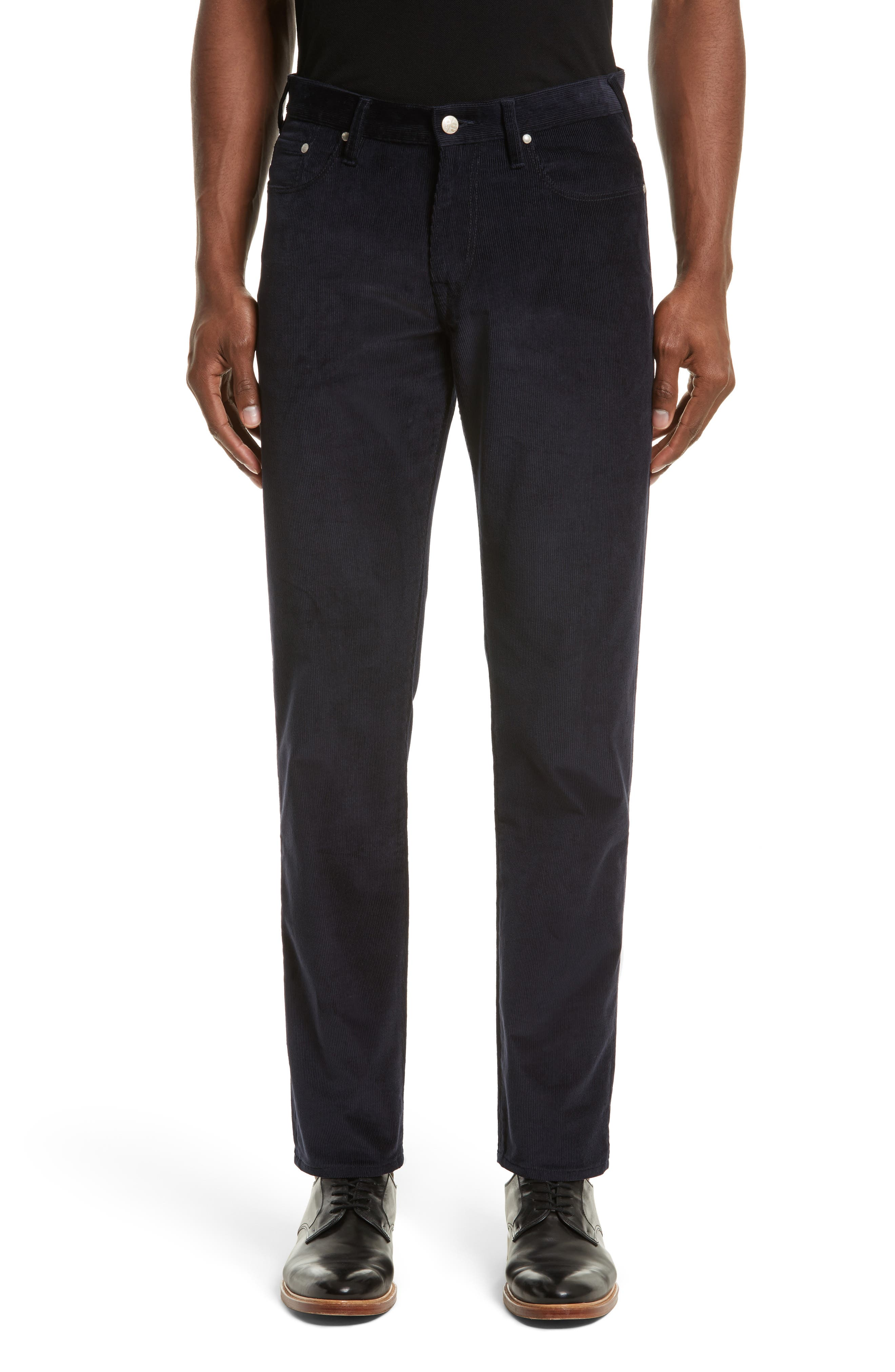 Tapered Fit Corduroy Pants,                         Main,                         color, Blue