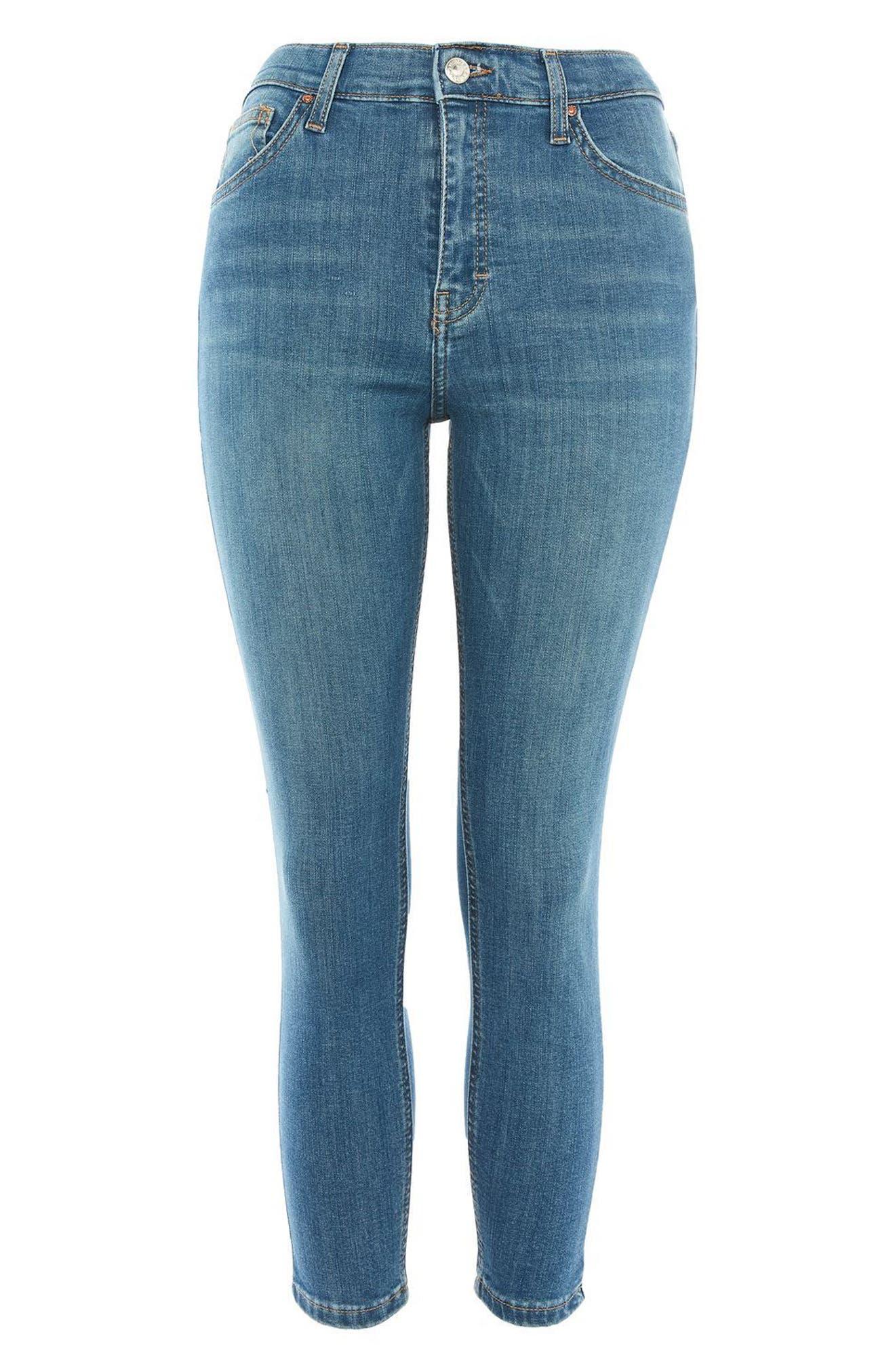 Alternate Image 3  - Topshop Jamie High Waist Crop Skinny Jeans (Petite)
