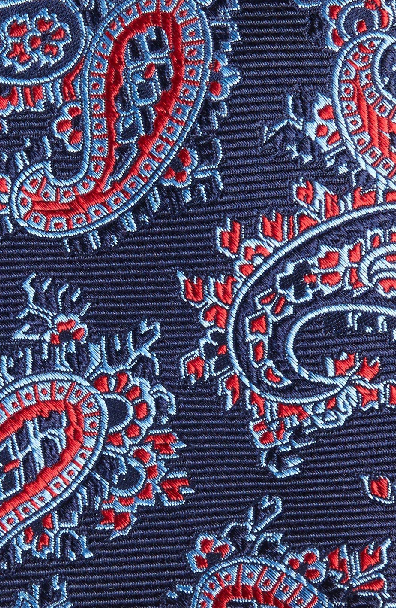 Paisley Silk Tie,                             Alternate thumbnail 2, color,                             Poppy
