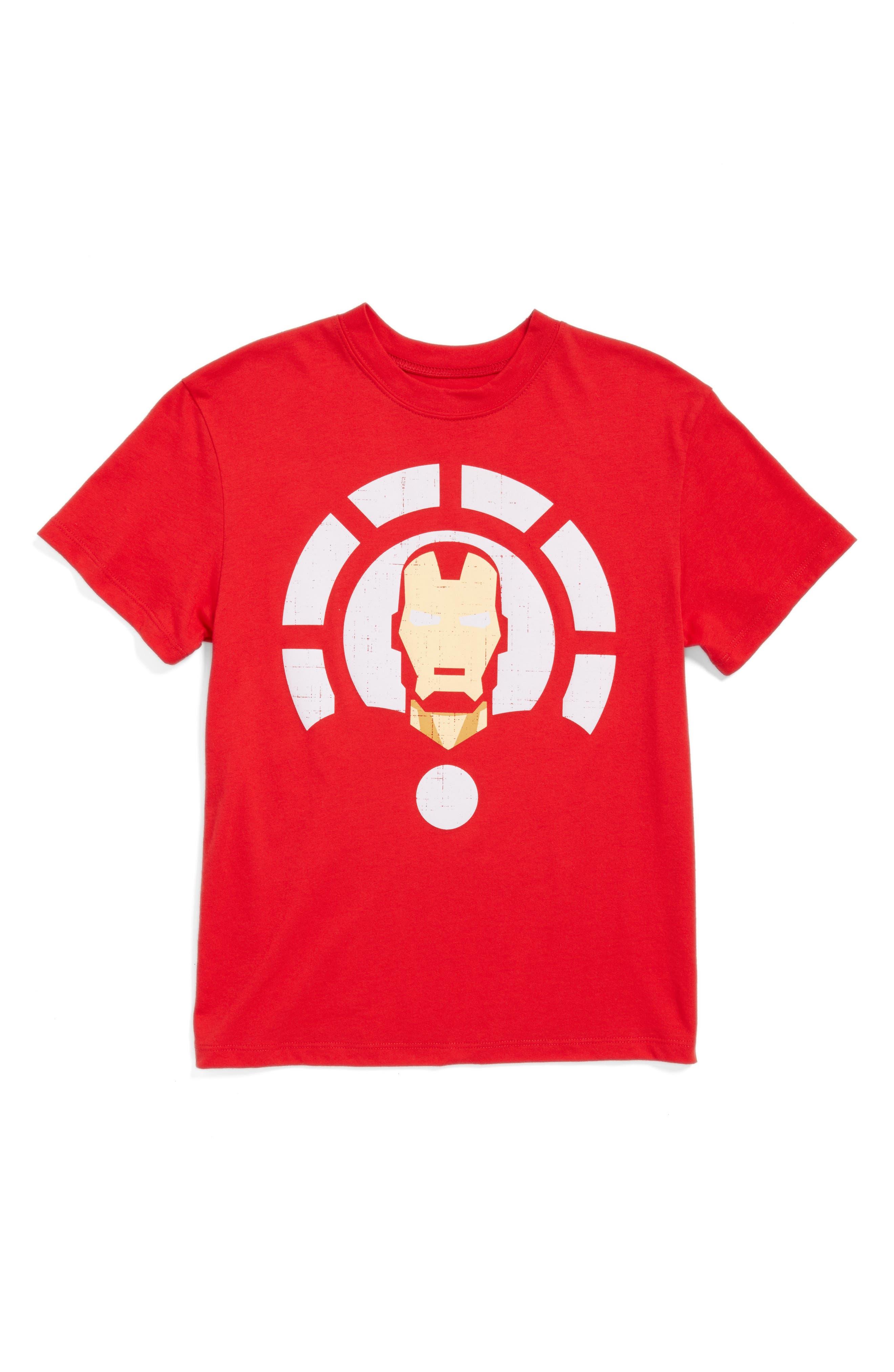 Mighty Fine Iron Man Graphic T-Shirt (Big Boys)