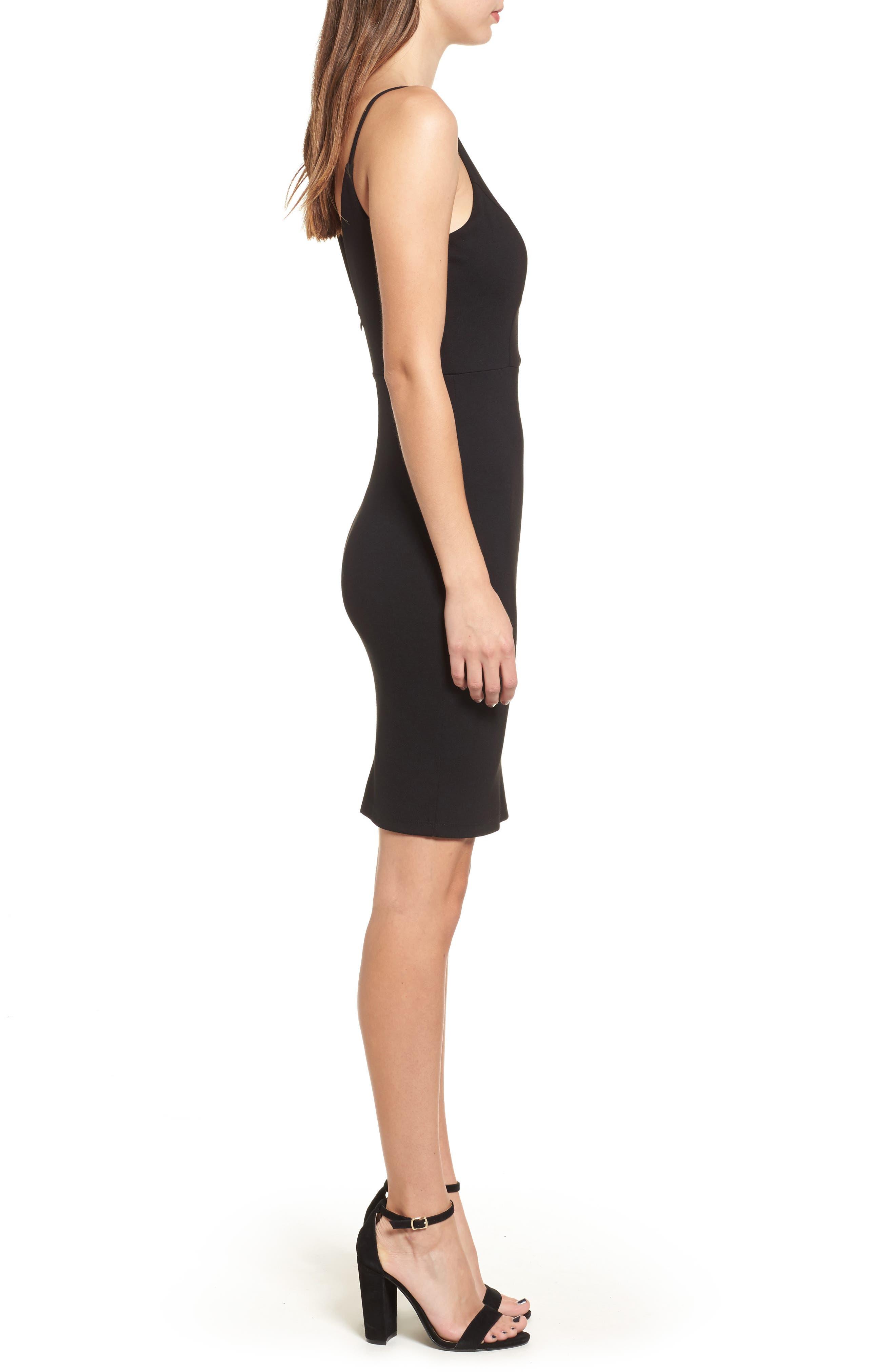 Alternate Image 3  - Soprano Cross Front Body-Con Dress