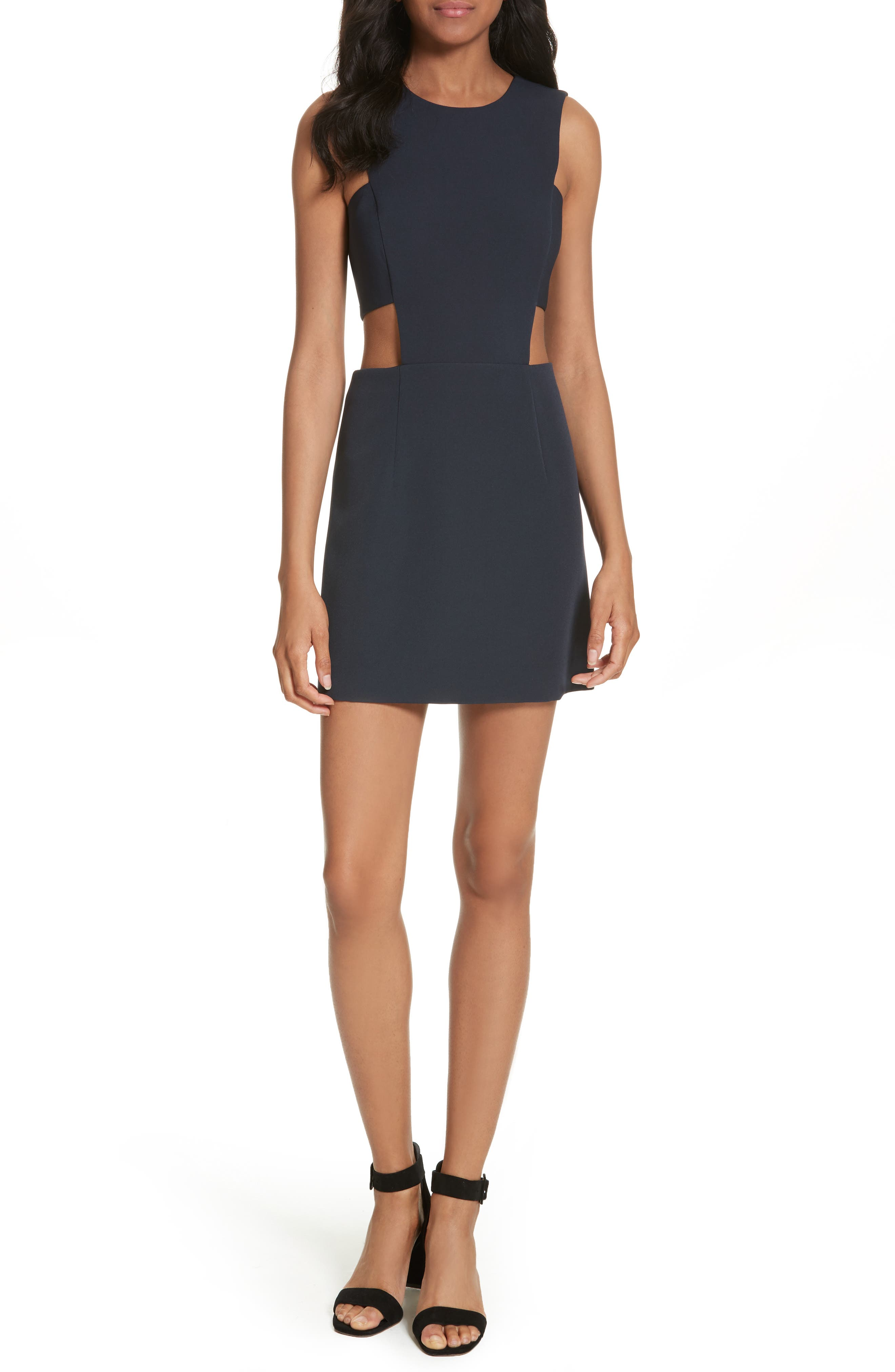 Cutout Mindress,                             Main thumbnail 1, color,                             Navy