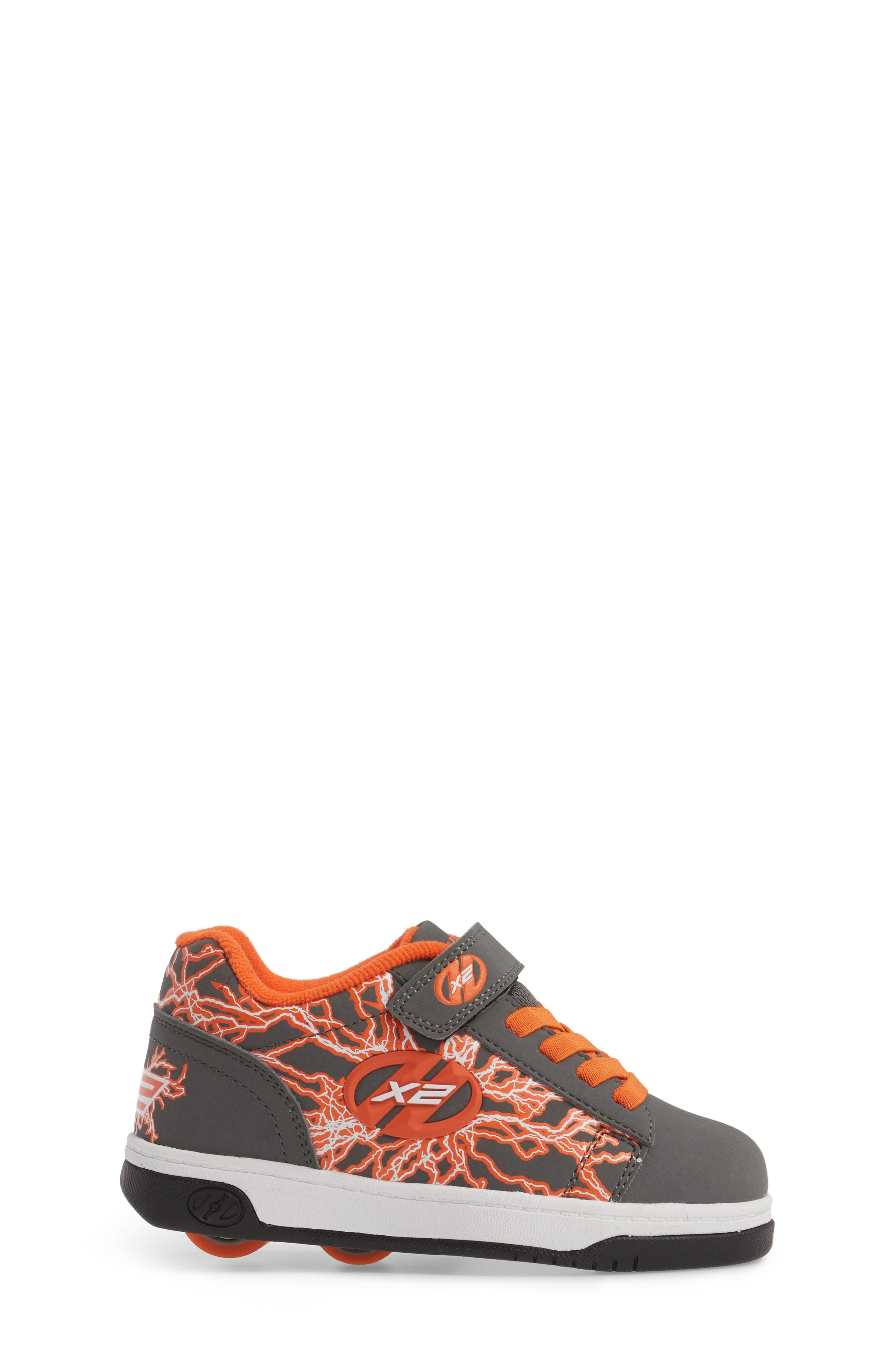 'Dual Up X2' Sneaker,                             Alternate thumbnail 3, color,                             Charcoal/ Orange/ Electricity