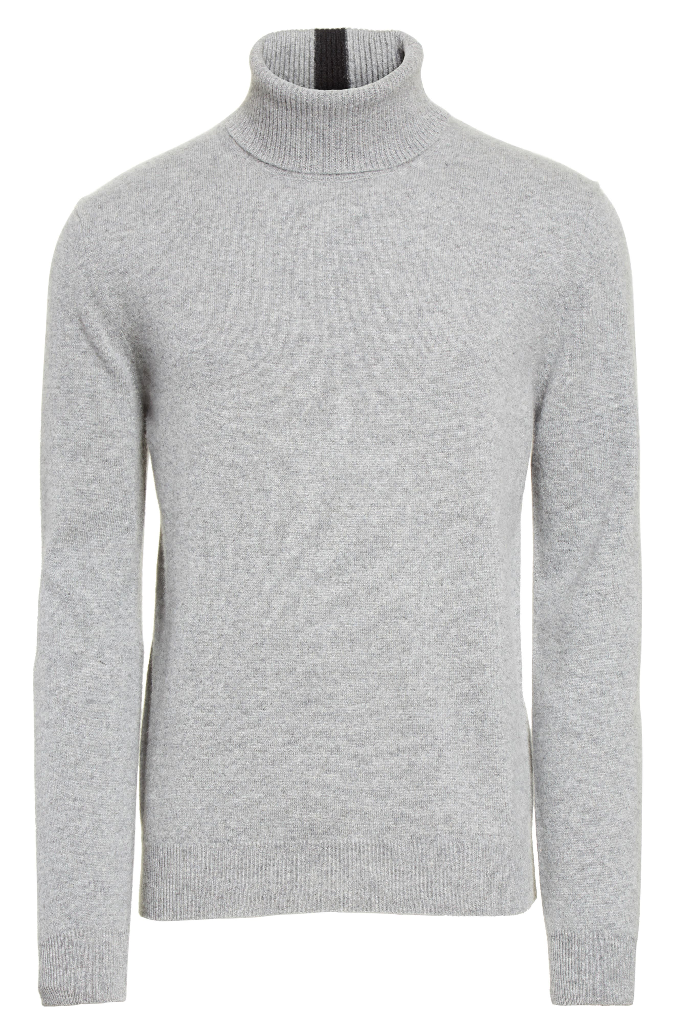Turtleneck Sweater,                             Alternate thumbnail 6, color,                             Grey