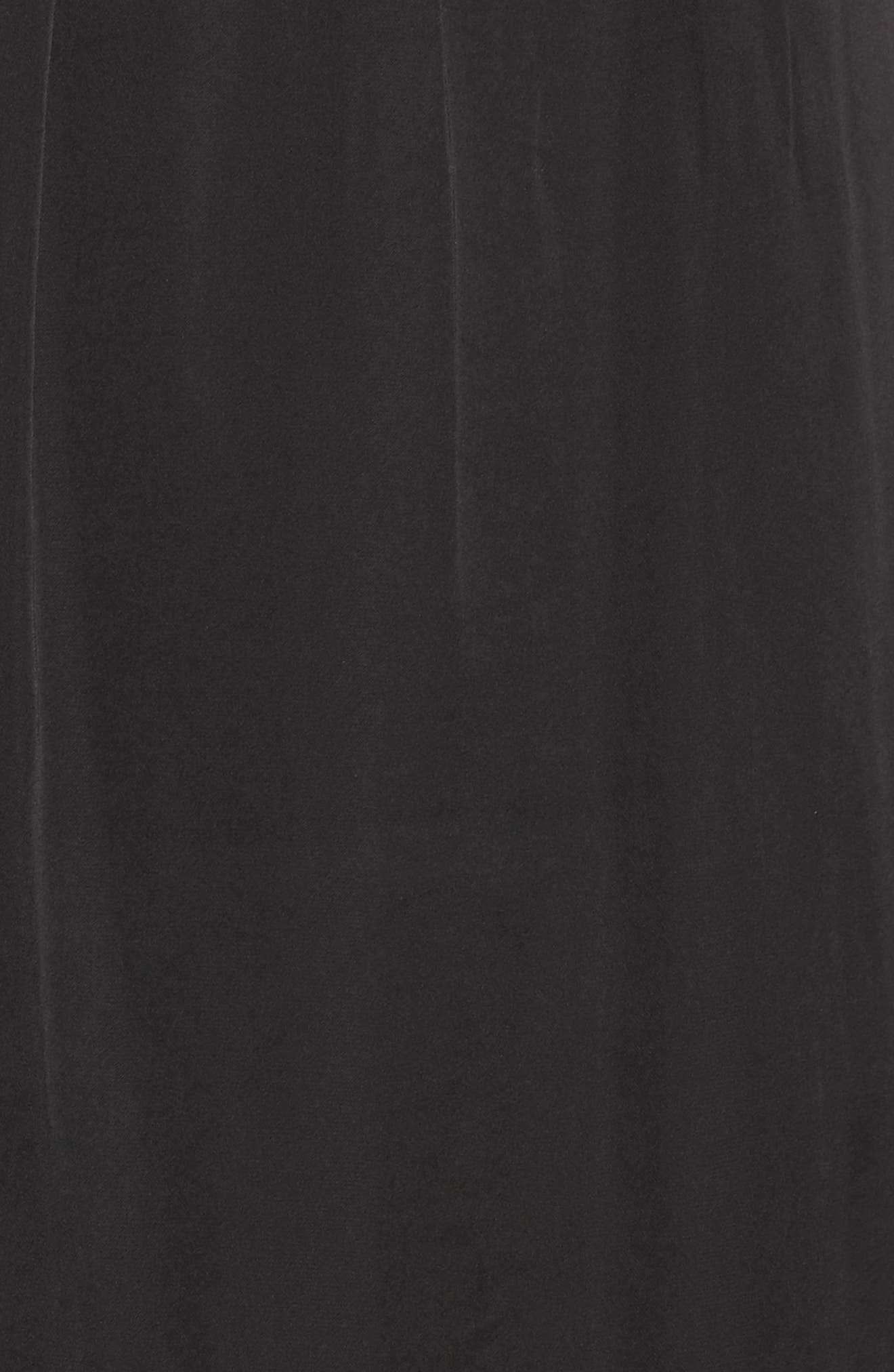 Split Sleeve Dress,                             Alternate thumbnail 5, color,                             Black