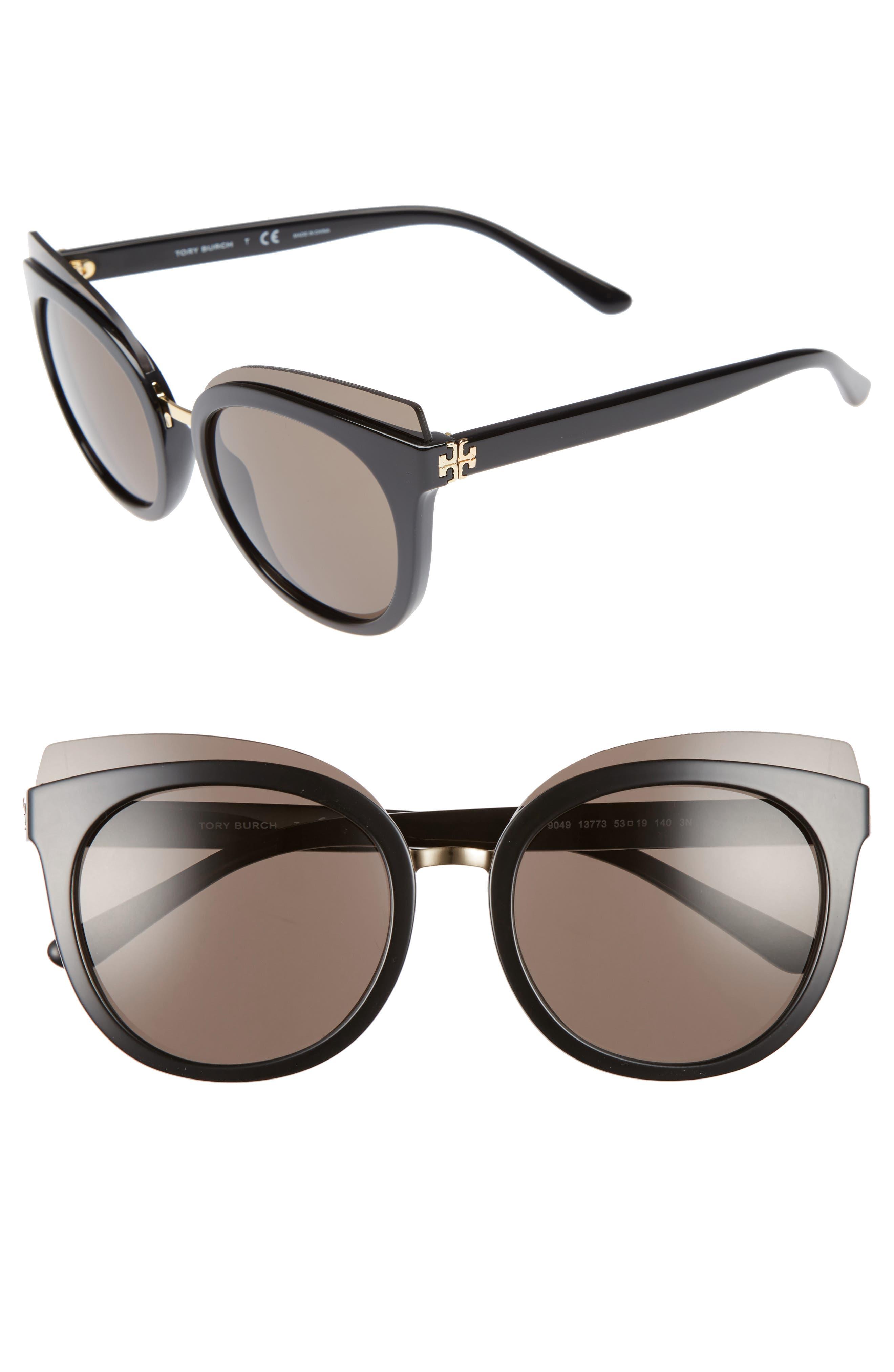 Tory Burch 53mm Cat Eye Sunglasses