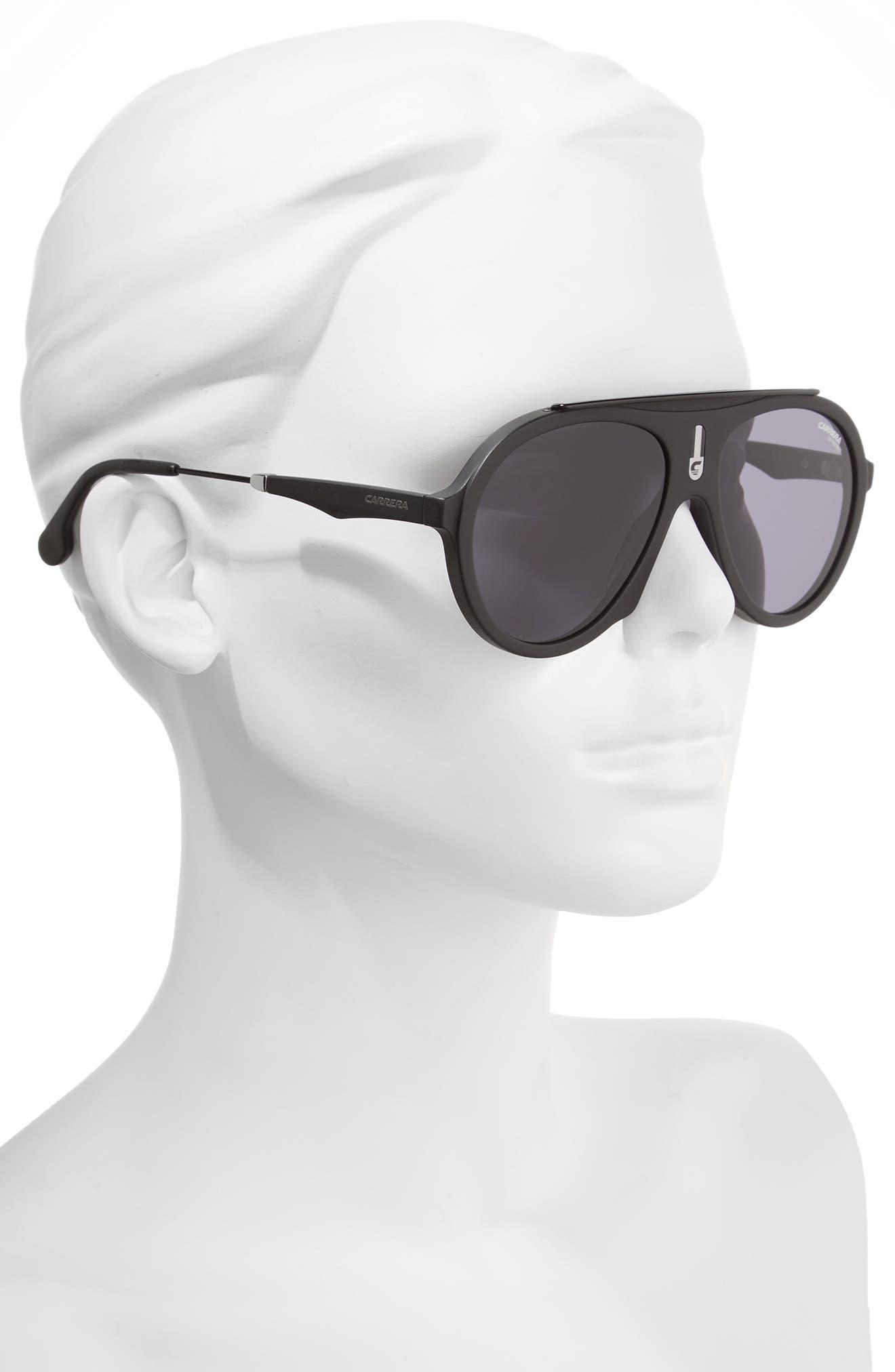 Alternate Image 2  - Carrera Flag 57mm Mirrored Pilot Sunglasses