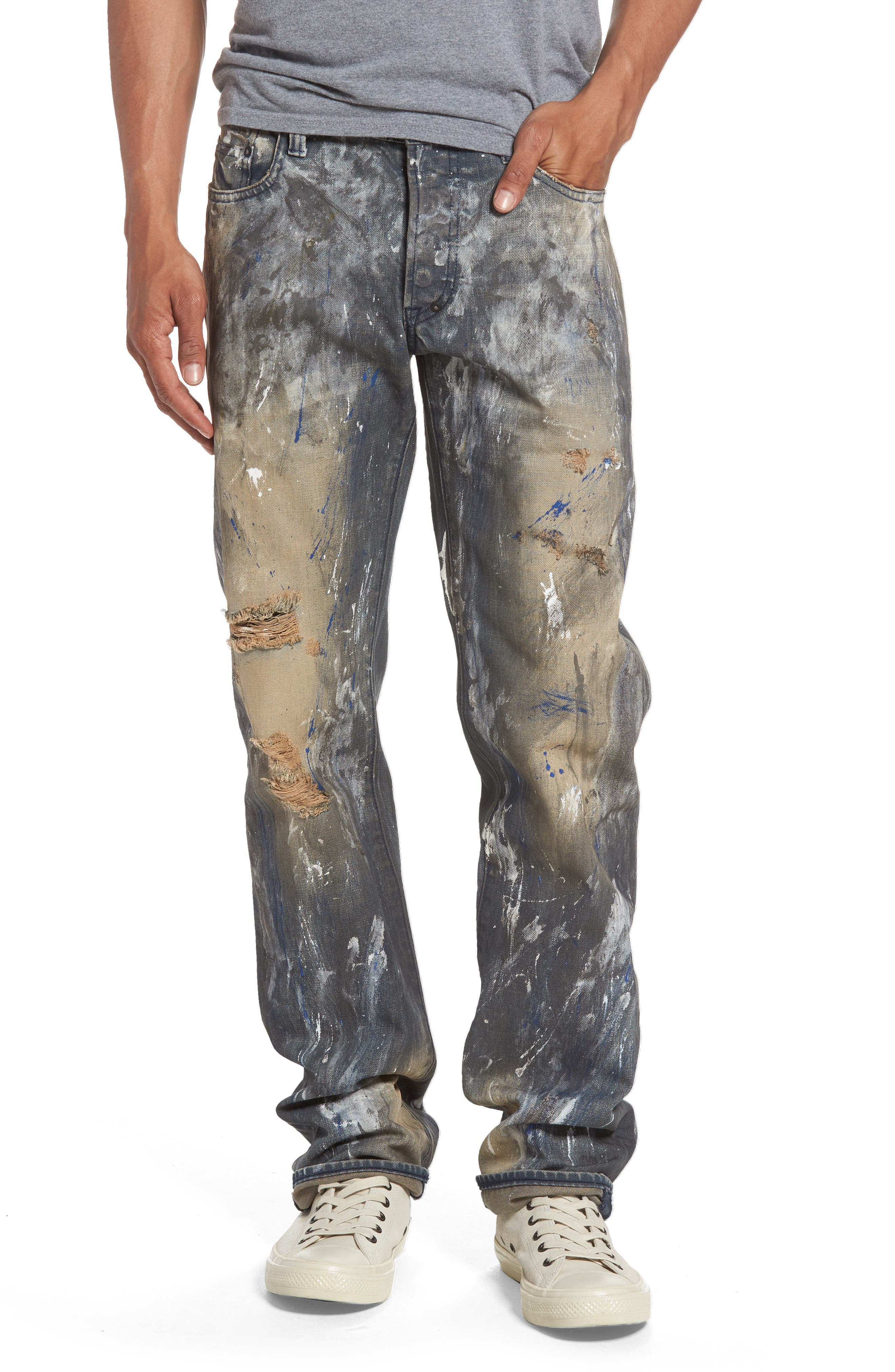 Alternate Image 1 Selected - PRPS Barracuda Straight Leg Jeans