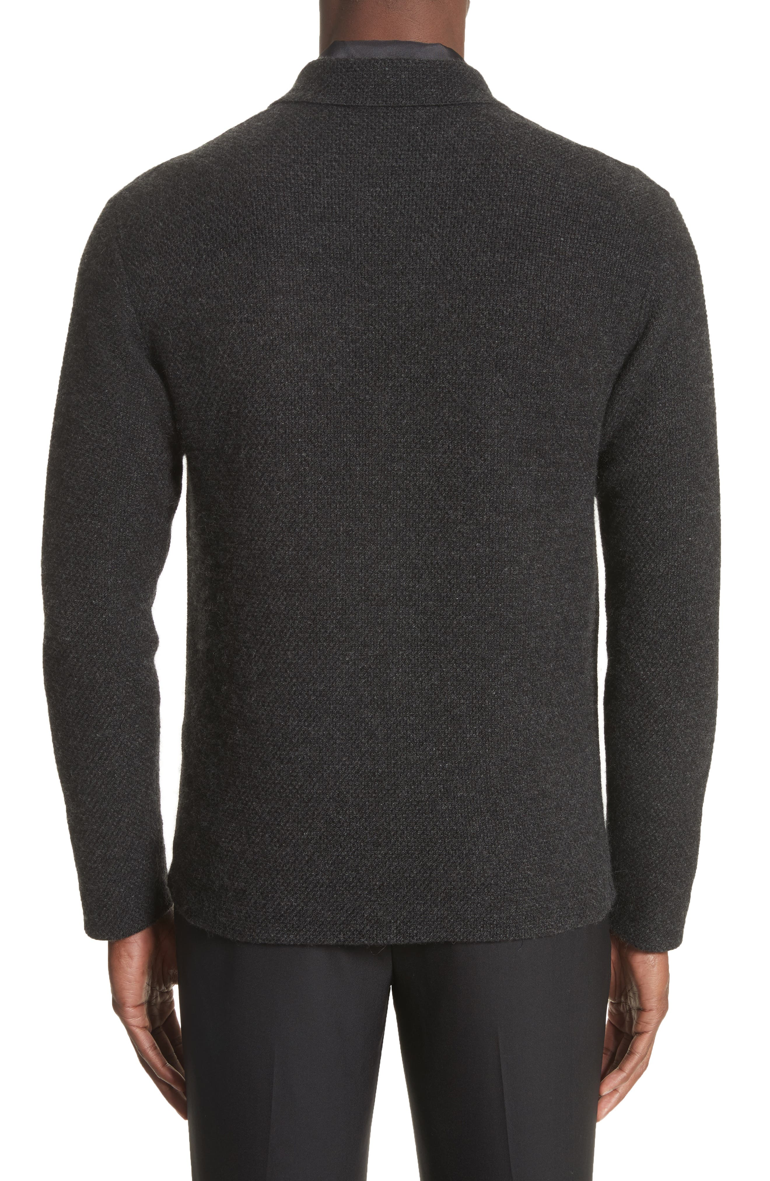 Cashmere Sweater Jacket,                             Alternate thumbnail 2, color,                             Anthracite