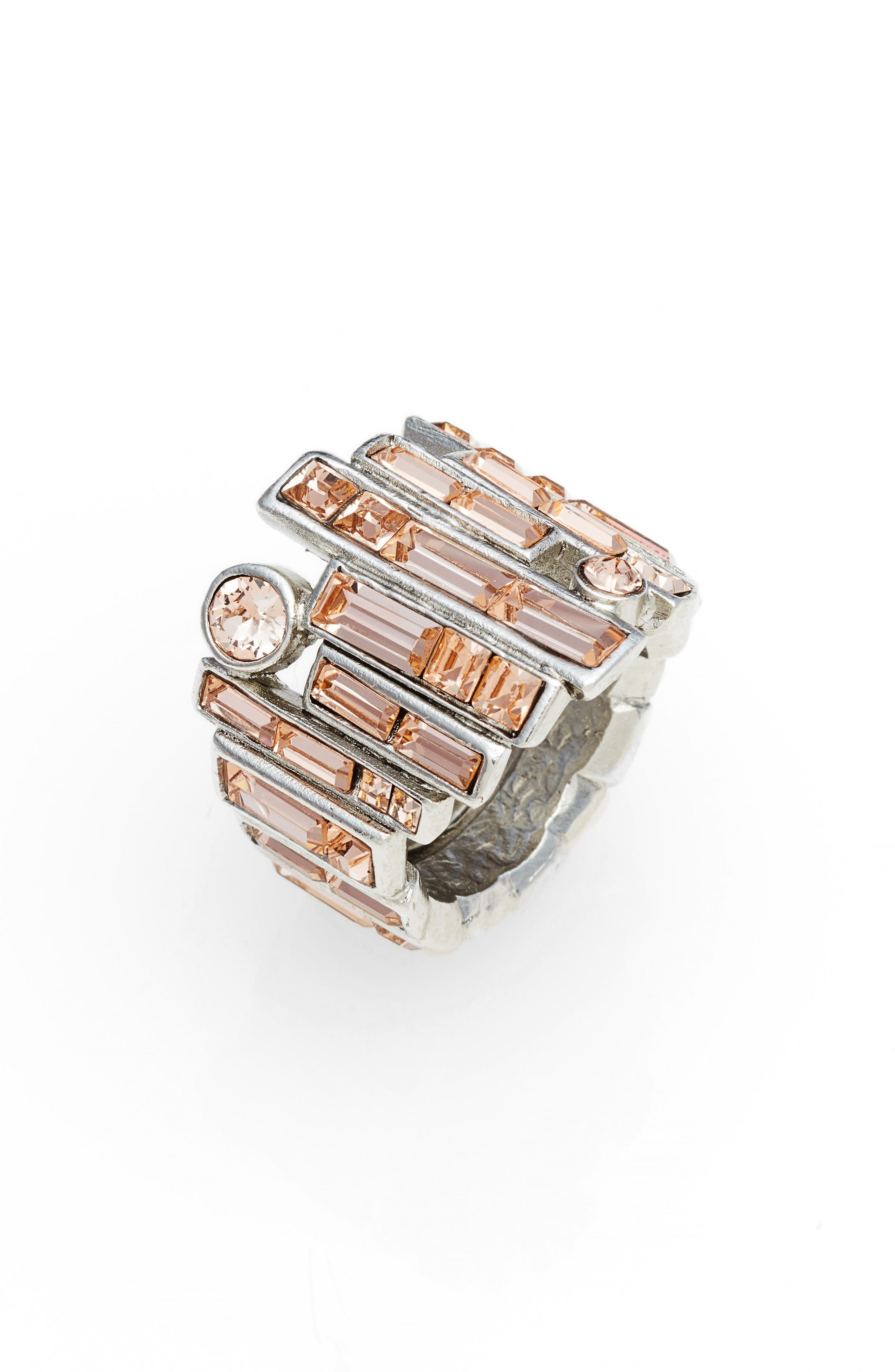 Stacked Baguette Ring,                             Main thumbnail 1, color,                             Silk