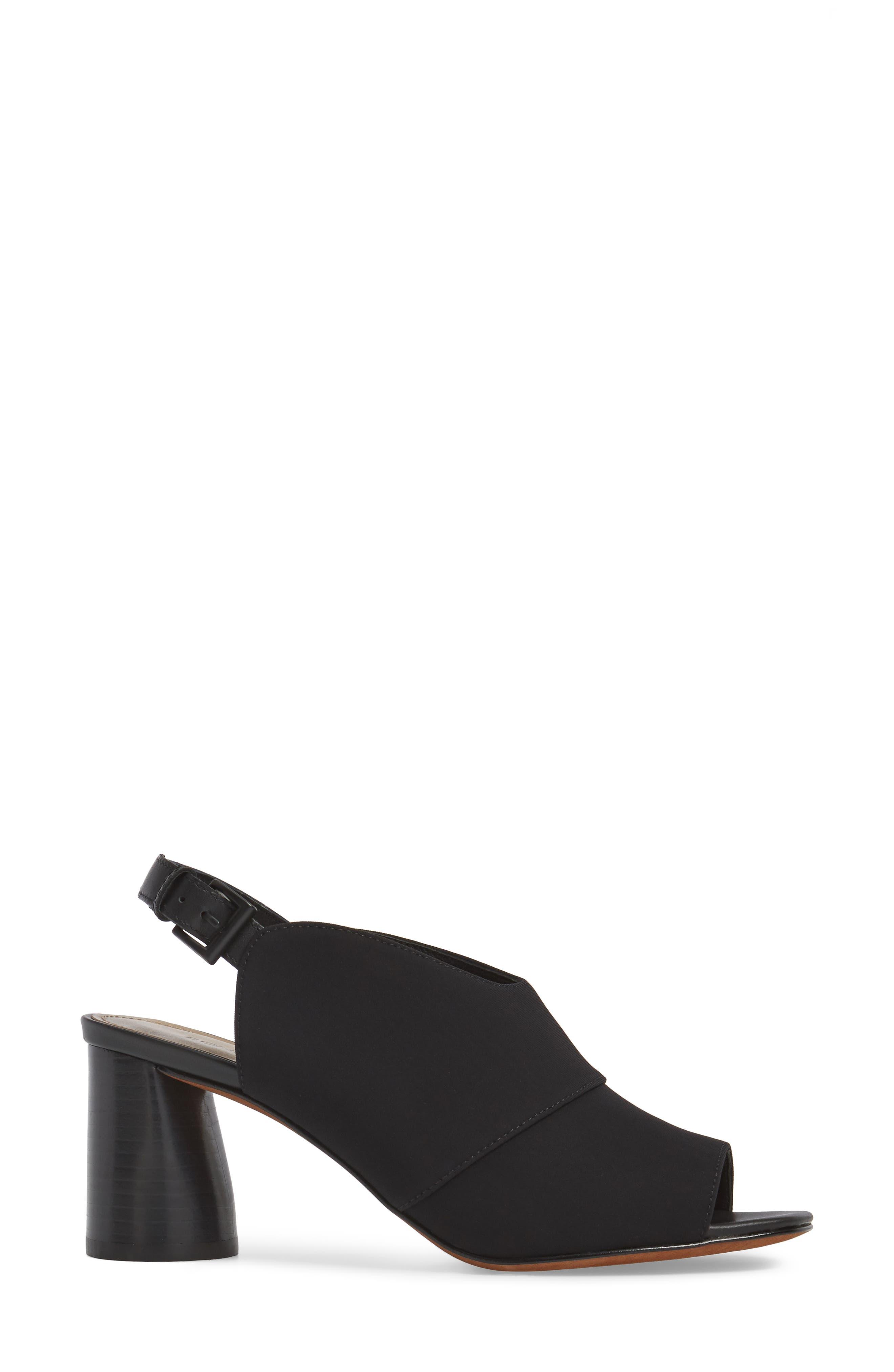 Donald J Pliner Hemi Slingback Sandal,                             Alternate thumbnail 3, color,                             Black Fabric