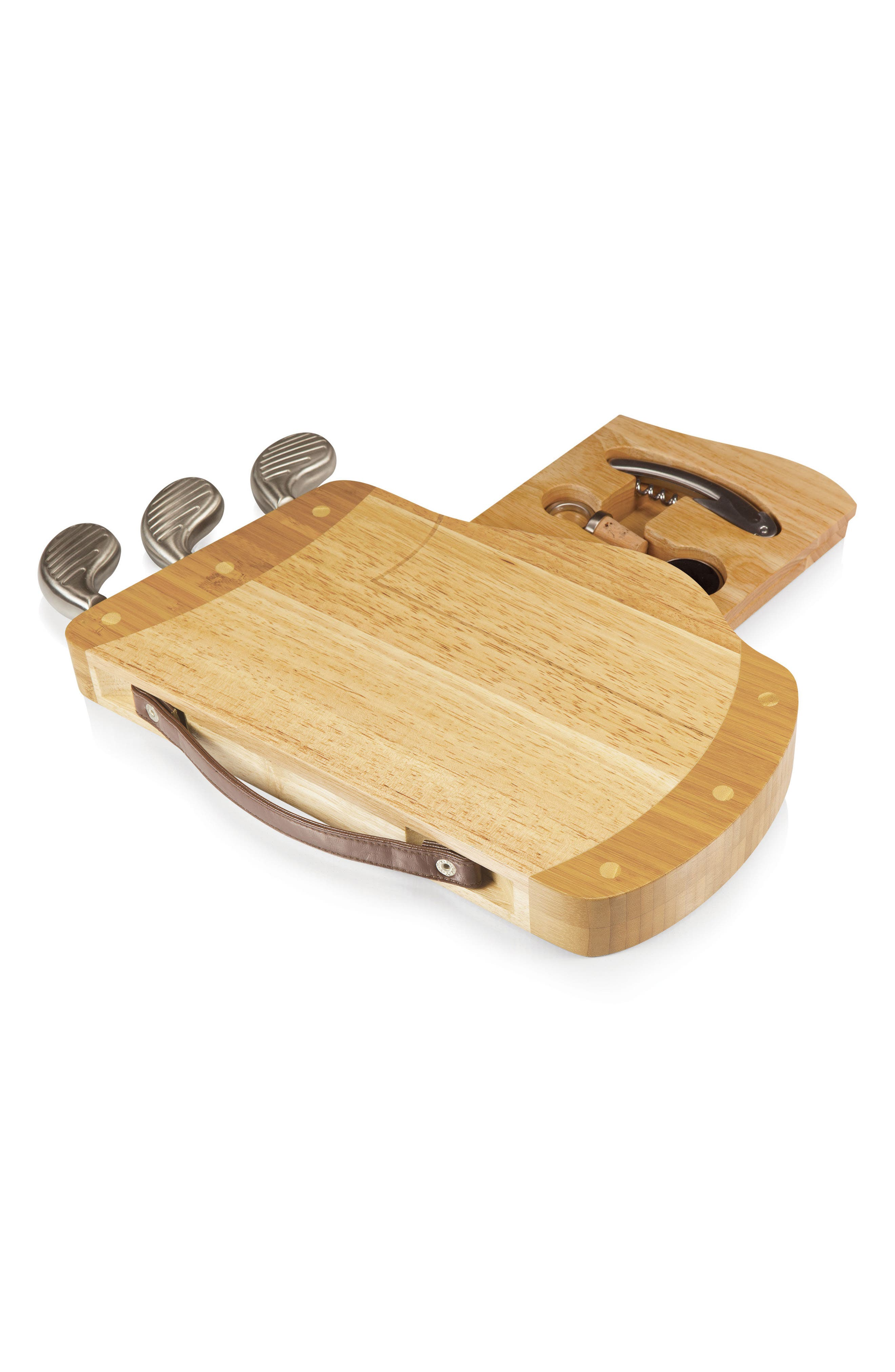 Caddy Cheese Board & Tools Set,                             Alternate thumbnail 2, color,                             Brown