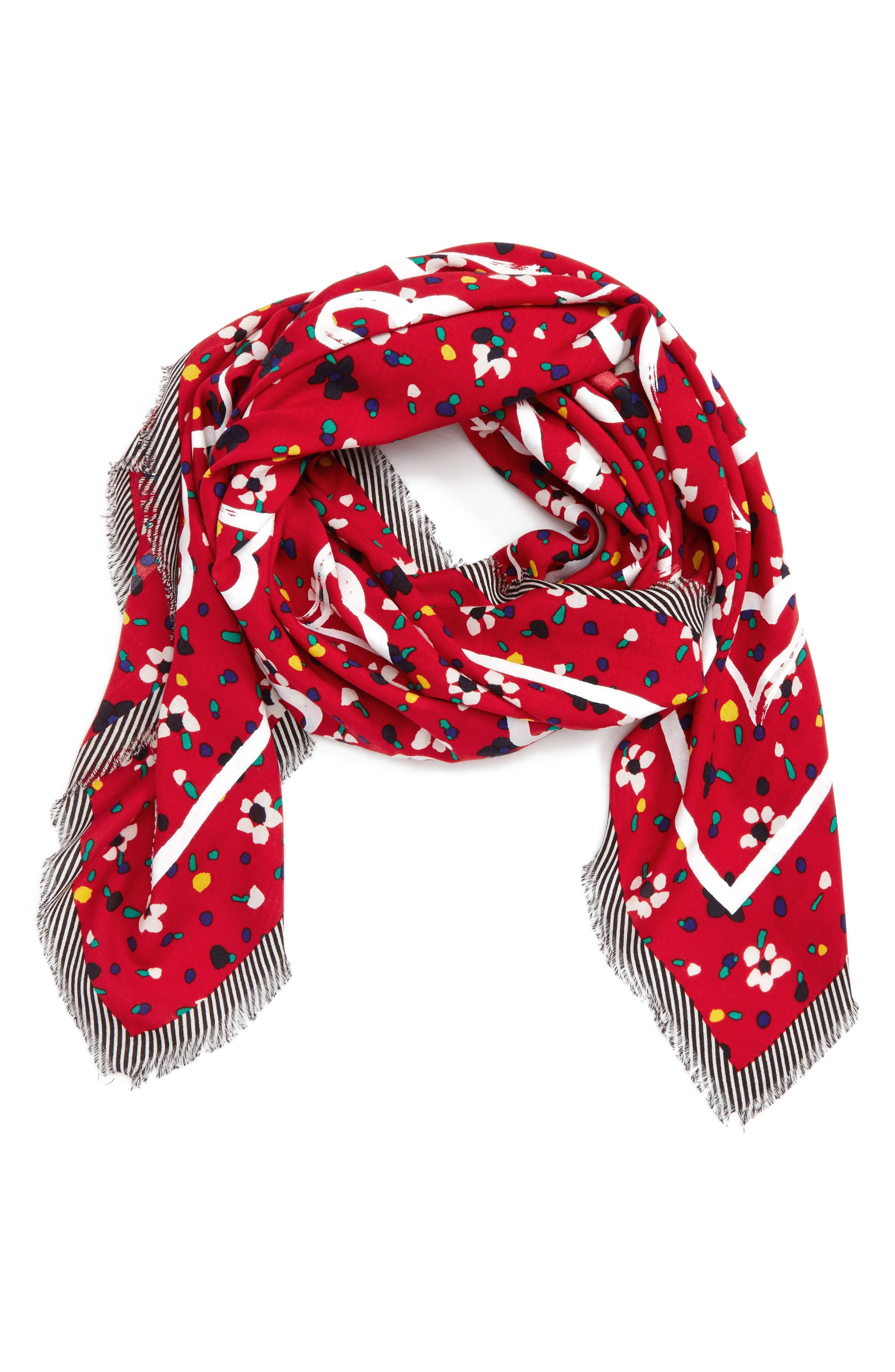 MARC JACOBS Hearts & Flowers Scarf