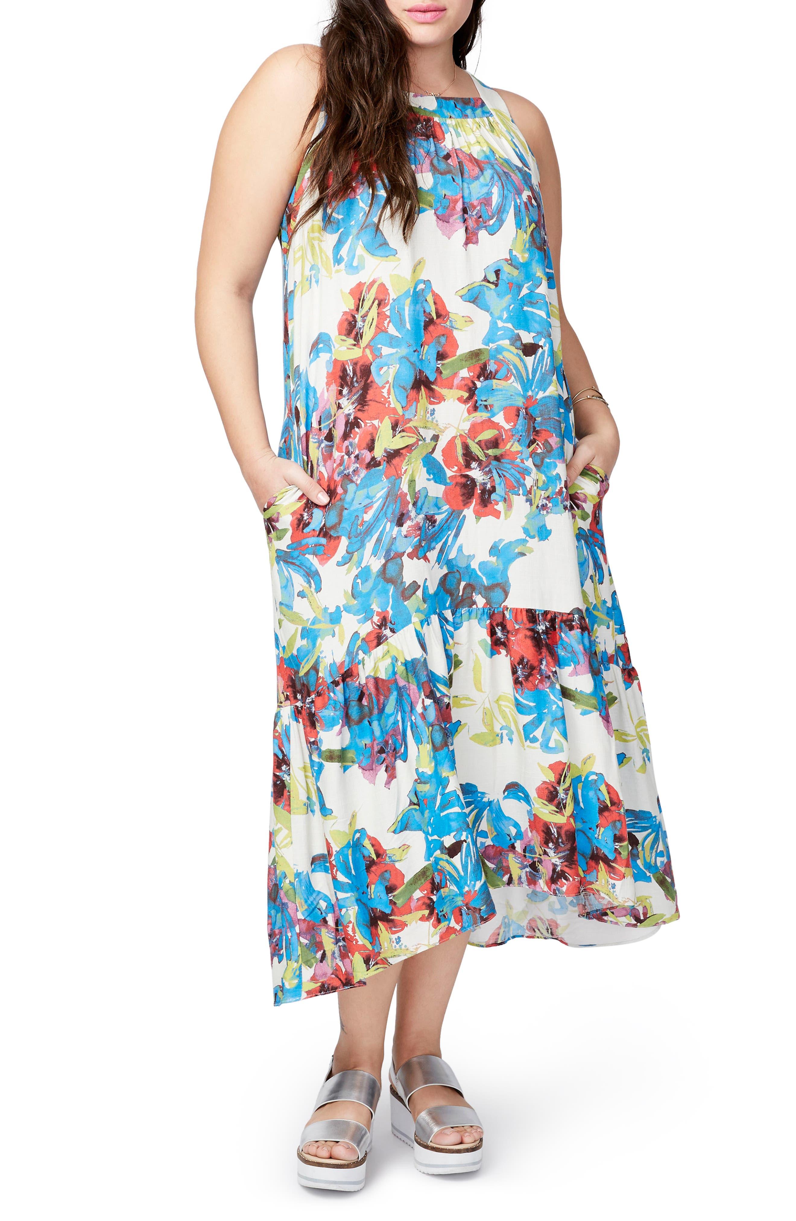 Main Image - RACHEL Rachel Roy High/Low Dress (Plus Size)