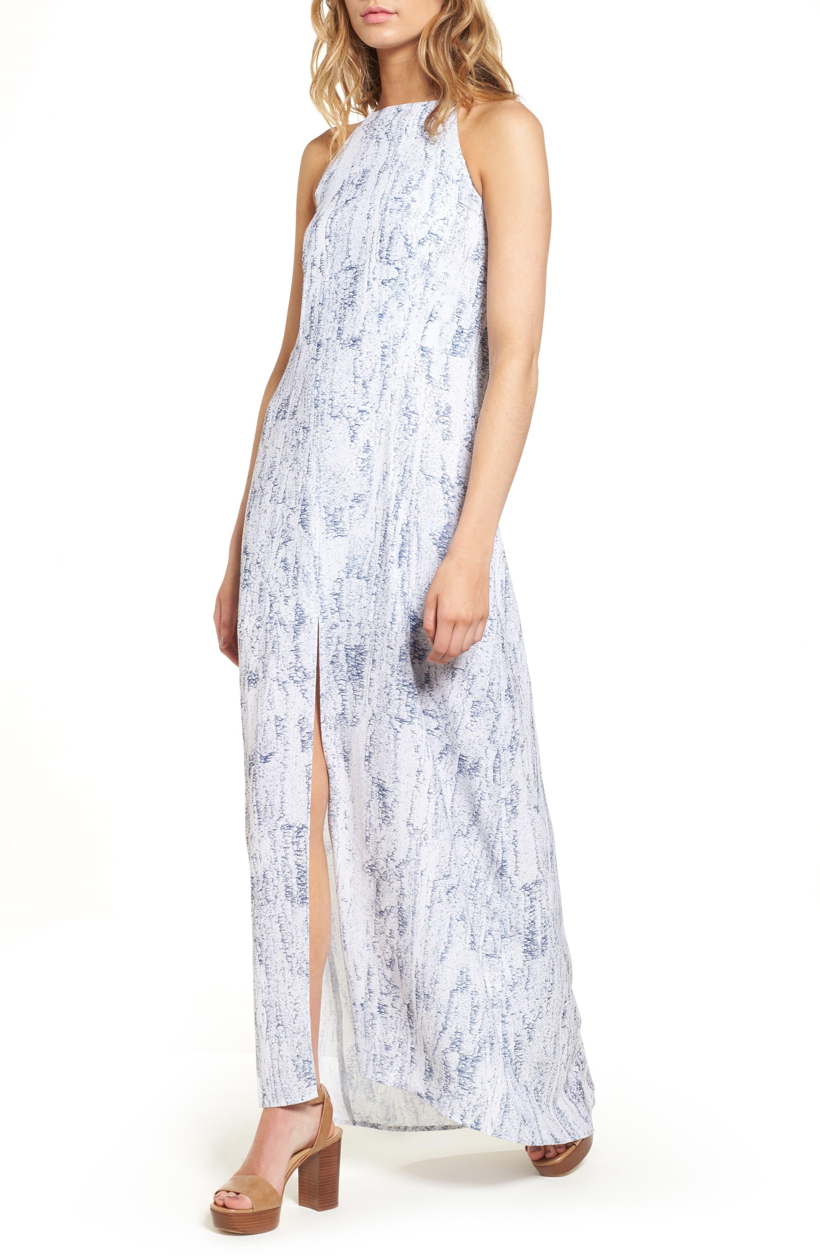 Halter Maxi Dress,                         Main,                         color, Mulberry