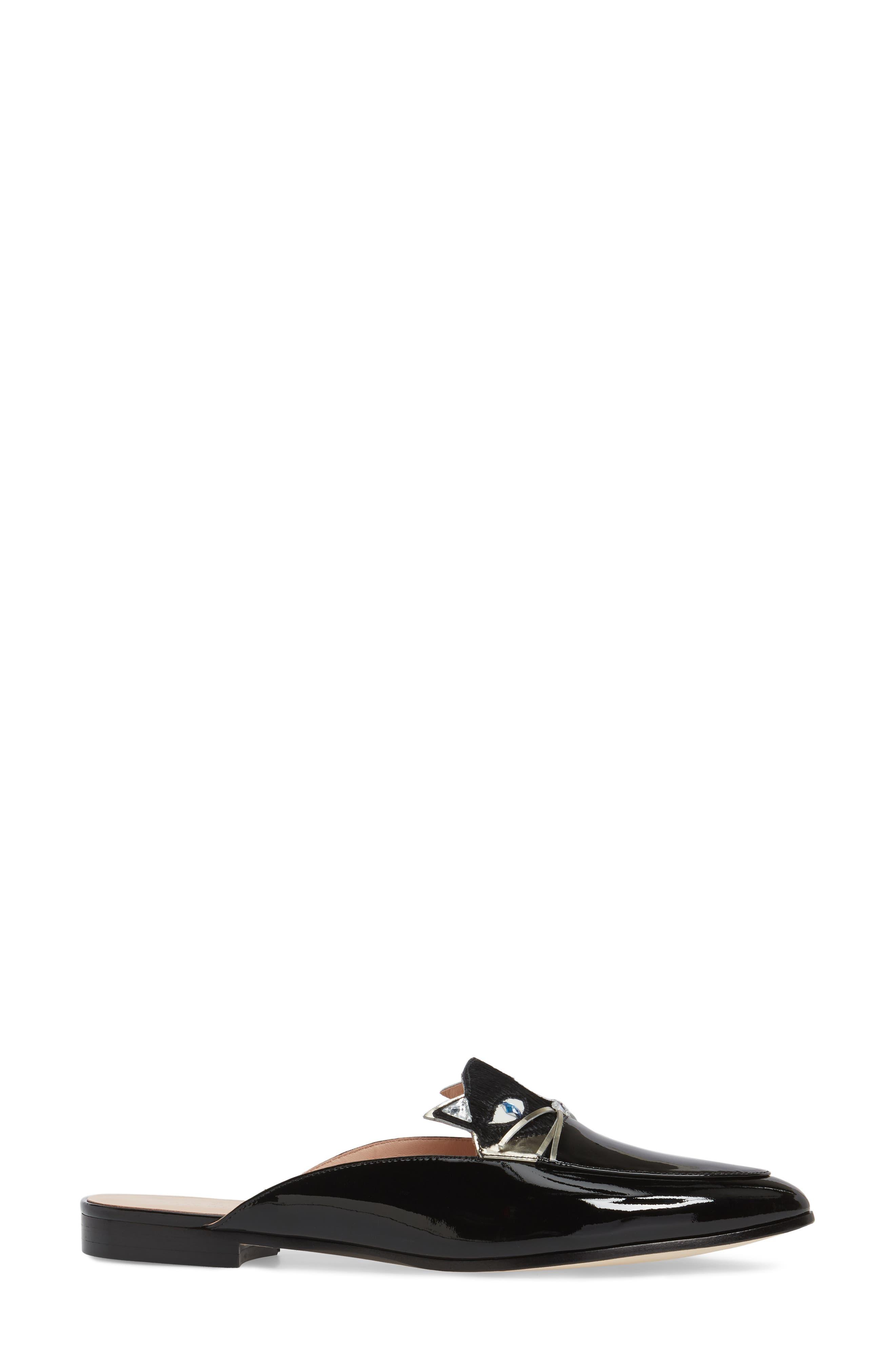 casper mule loafer,                             Alternate thumbnail 3, color,                             Black Patent