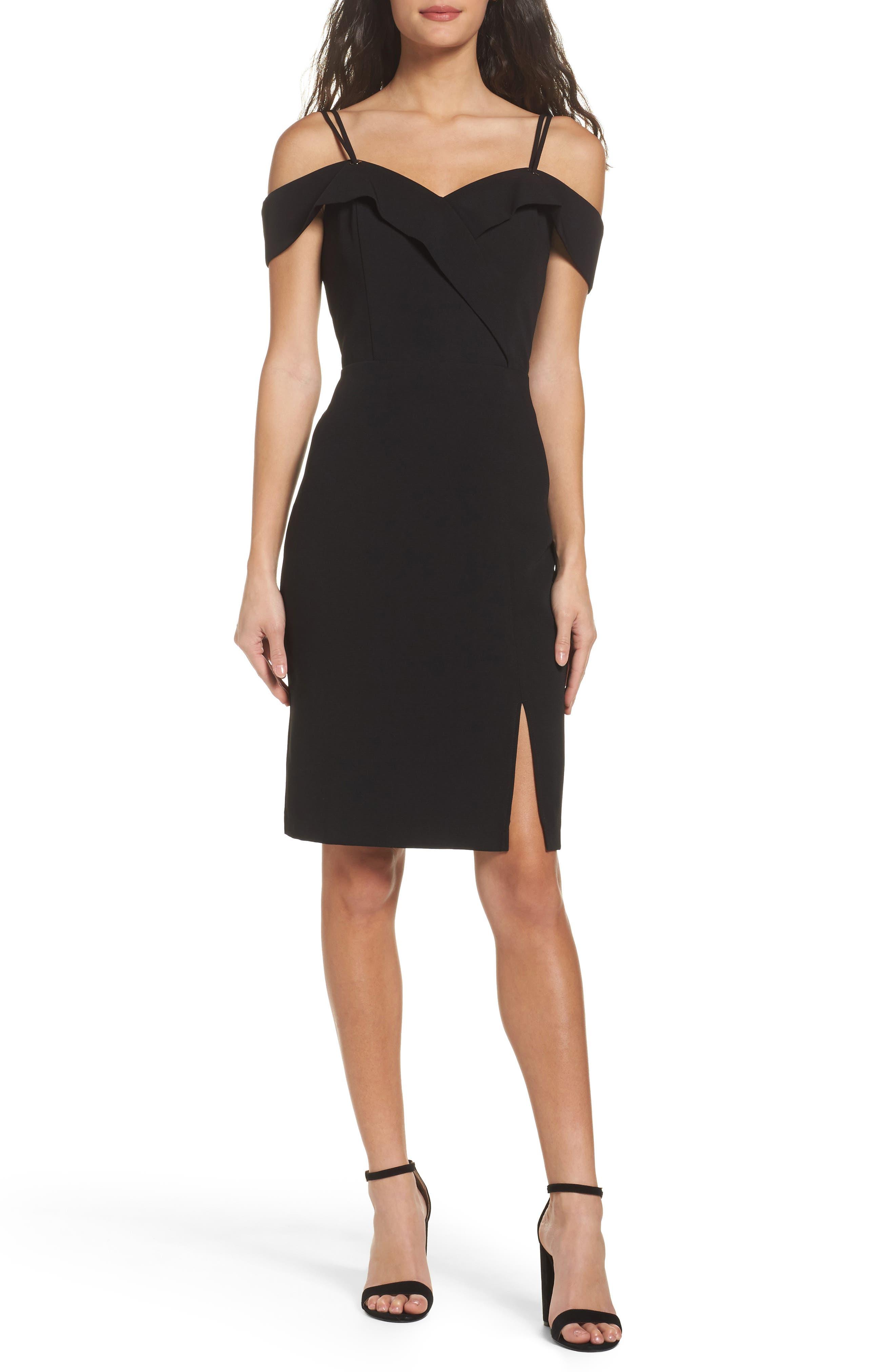 Shelby Cold Shoulder Sheath Dress,                         Main,                         color, Black
